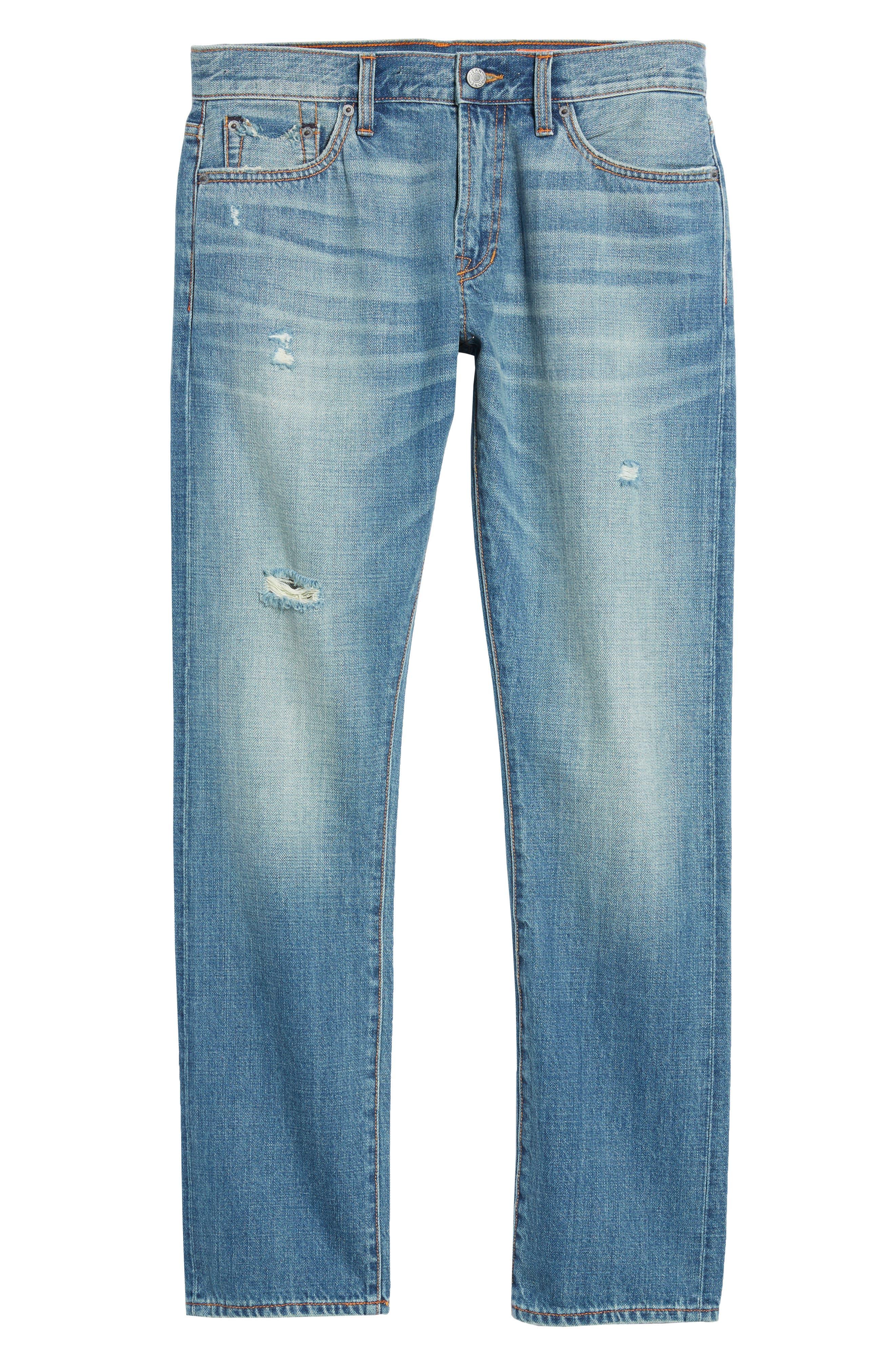 Mick Slim Straight Leg Jeans,                             Alternate thumbnail 6, color,                             400