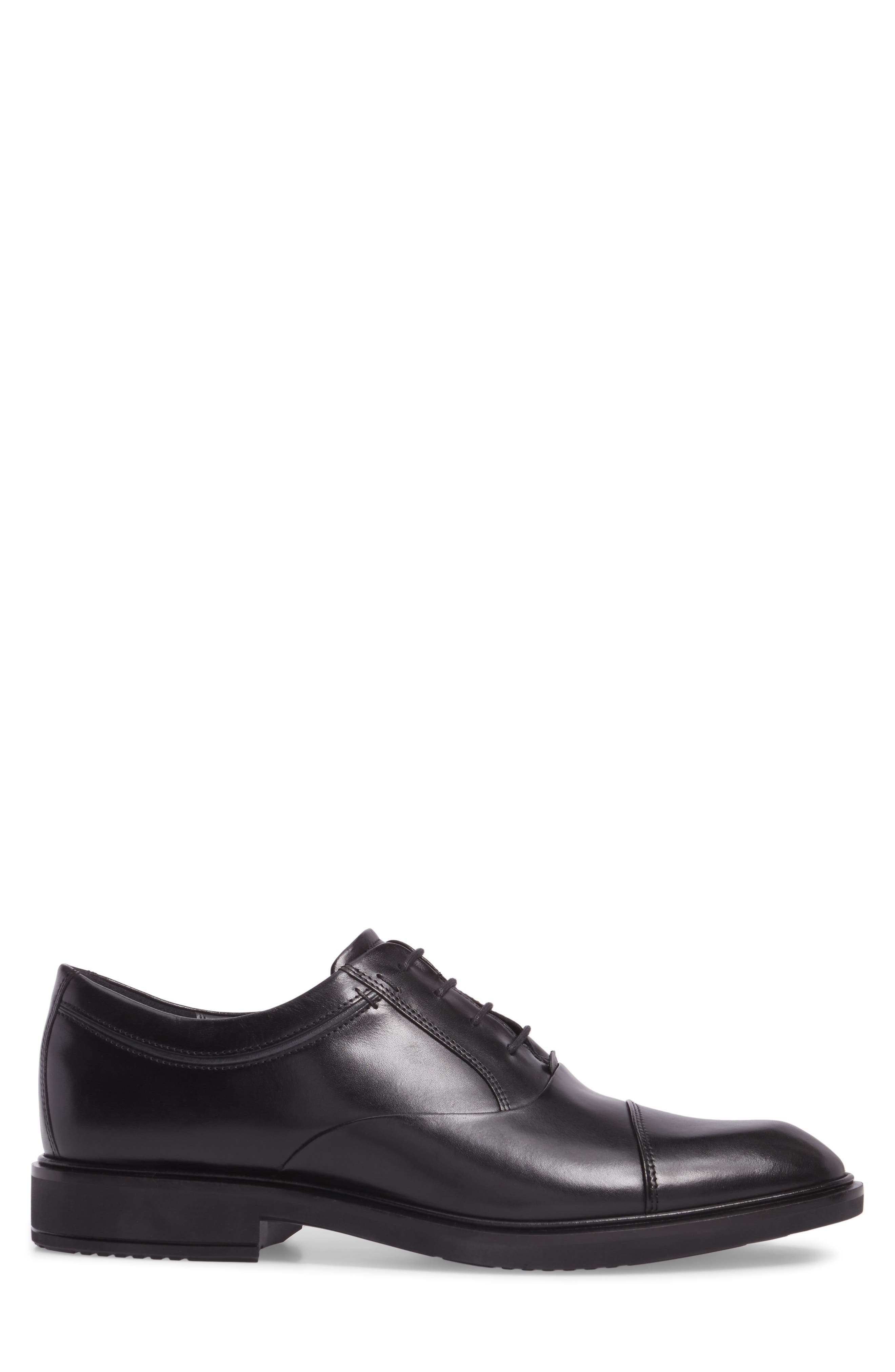 Vitrus II Cap Toe Oxford,                             Alternate thumbnail 3, color,                             BLACK LEATHER