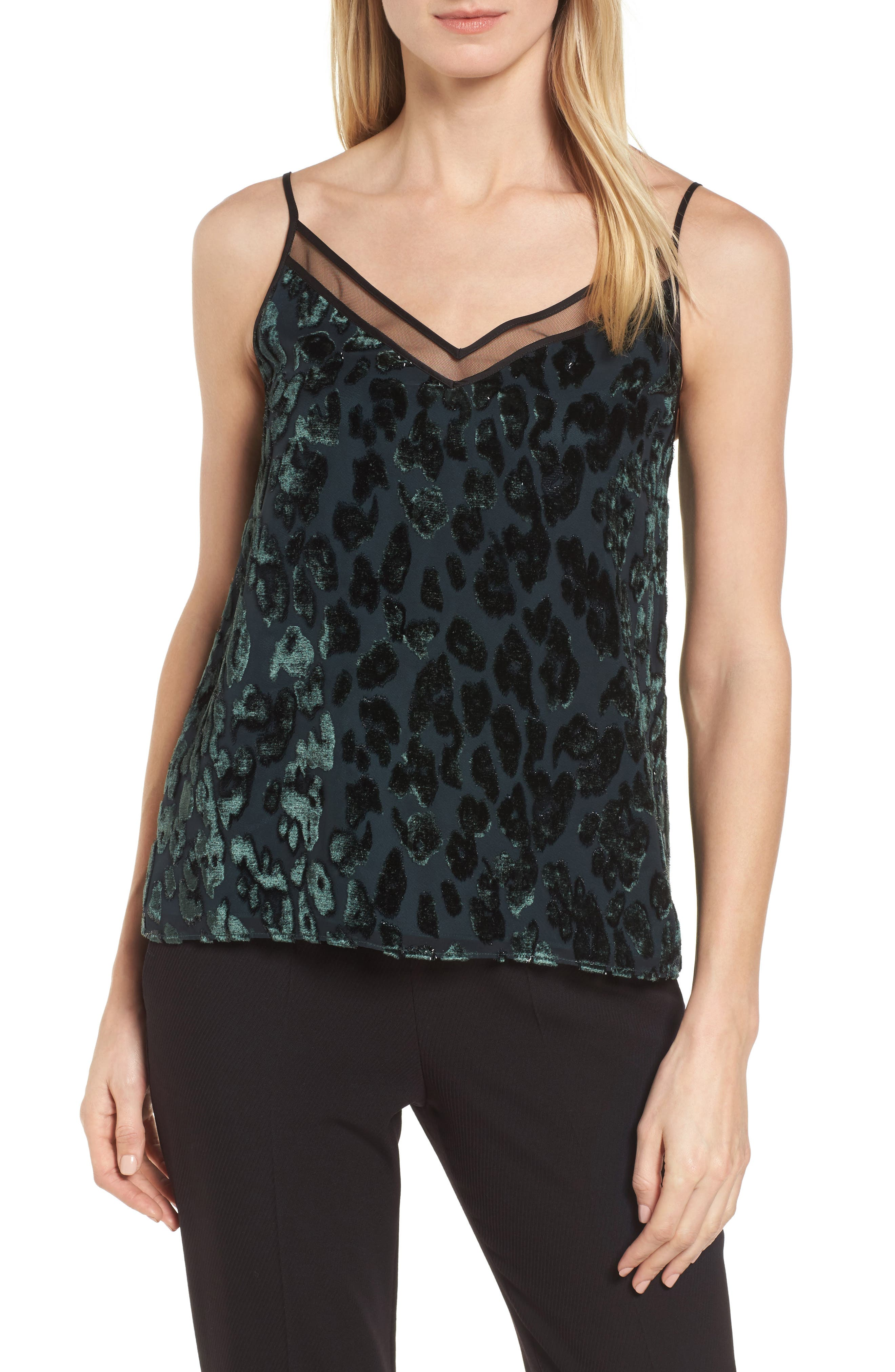 Ilomea Metallic Velvet Camisole,                             Main thumbnail 1, color,