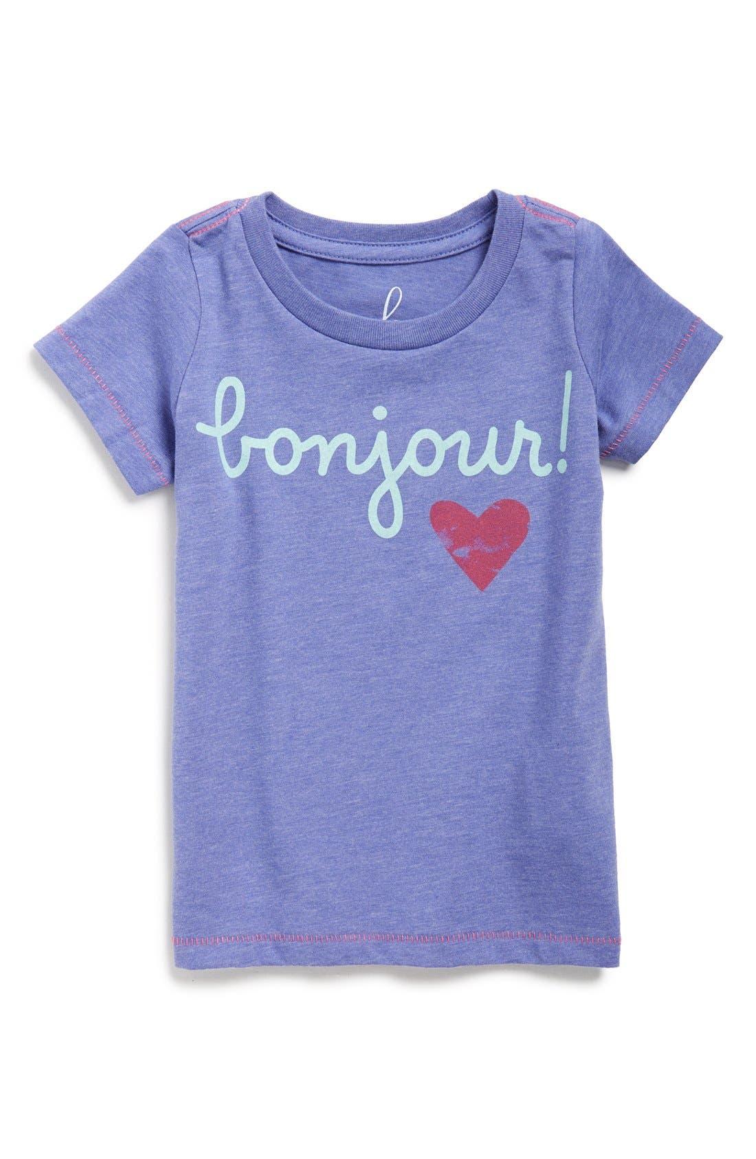Peek 'Bonjour' Graphic Tee,                         Main,                         color, 429