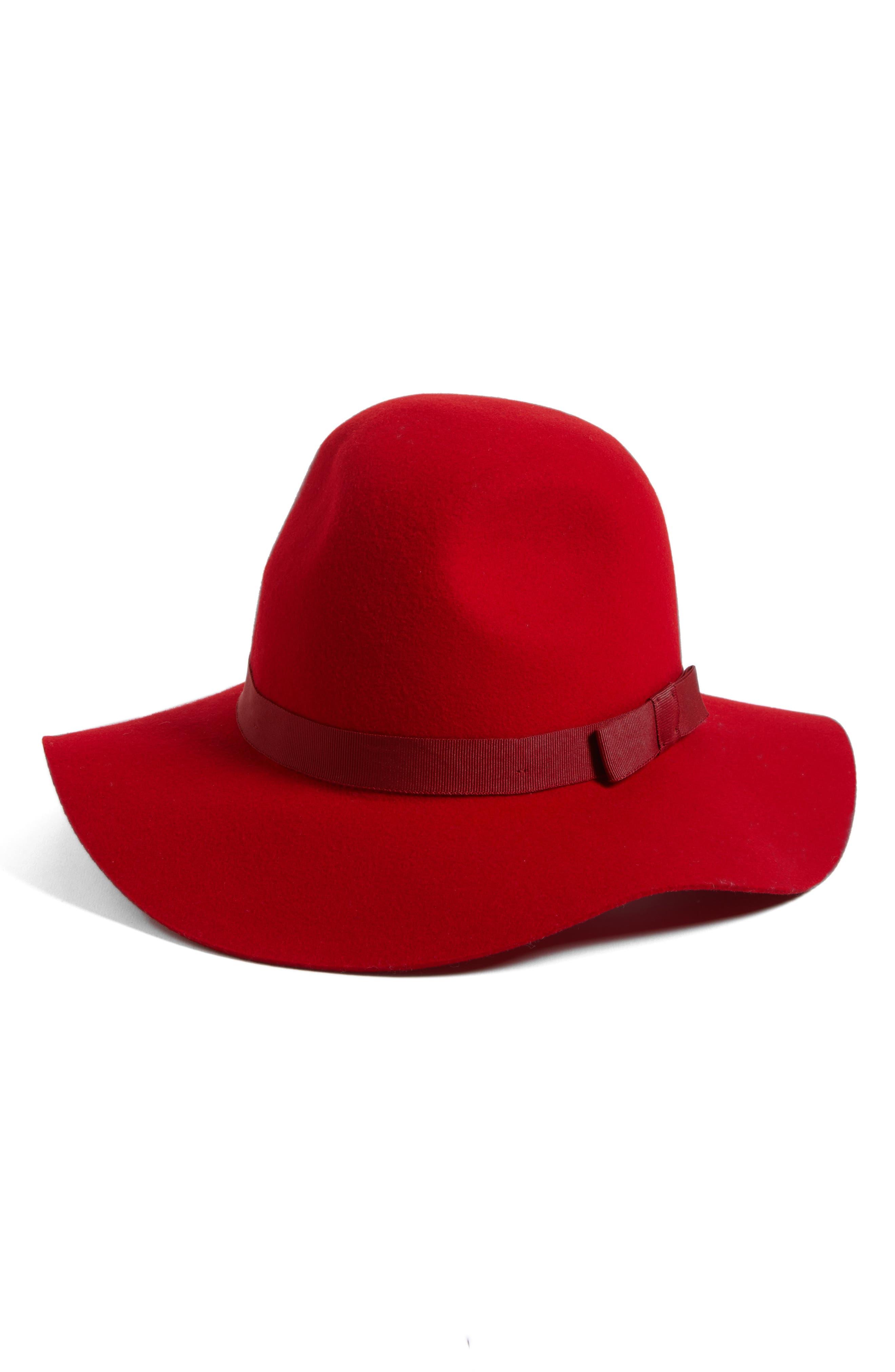 'Dalila' Floppy Felt Hat,                             Main thumbnail 7, color,