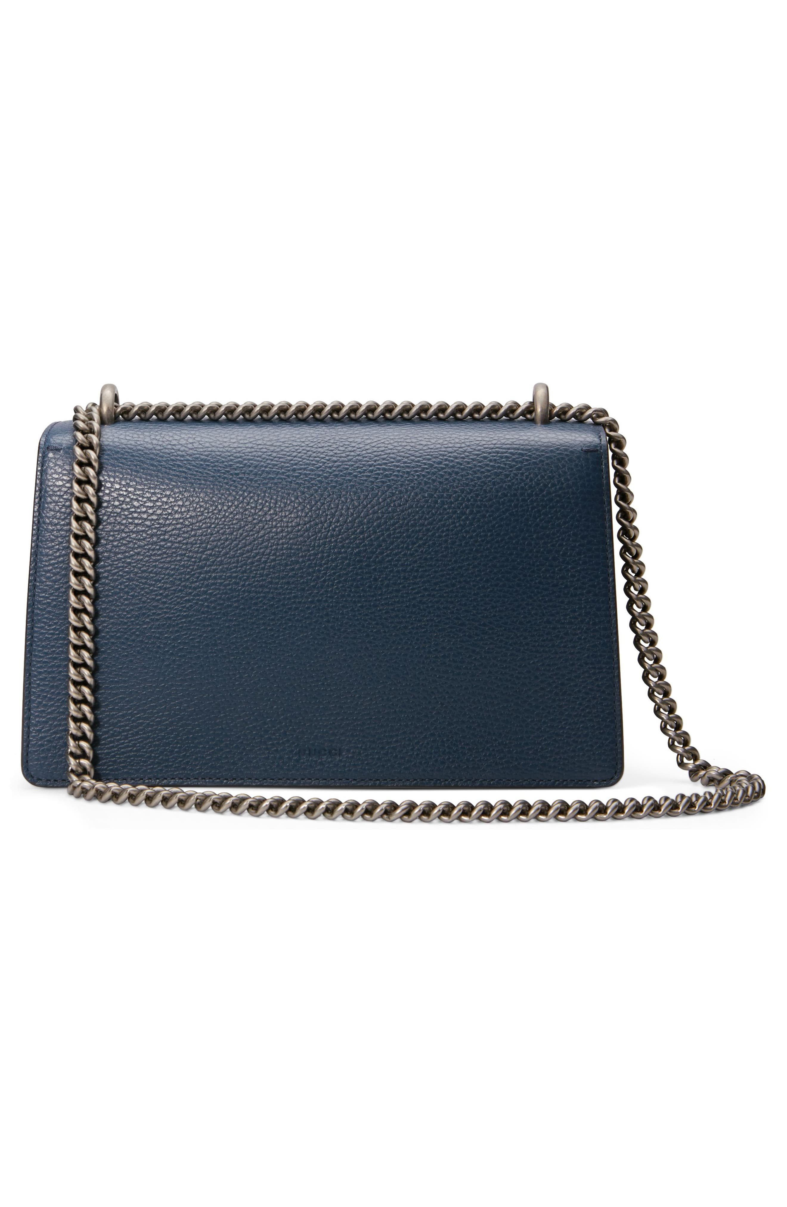 Small Dionysus Leather Shoulder Bag,                             Alternate thumbnail 2, color,                             BLU AGATA/ MONTANA