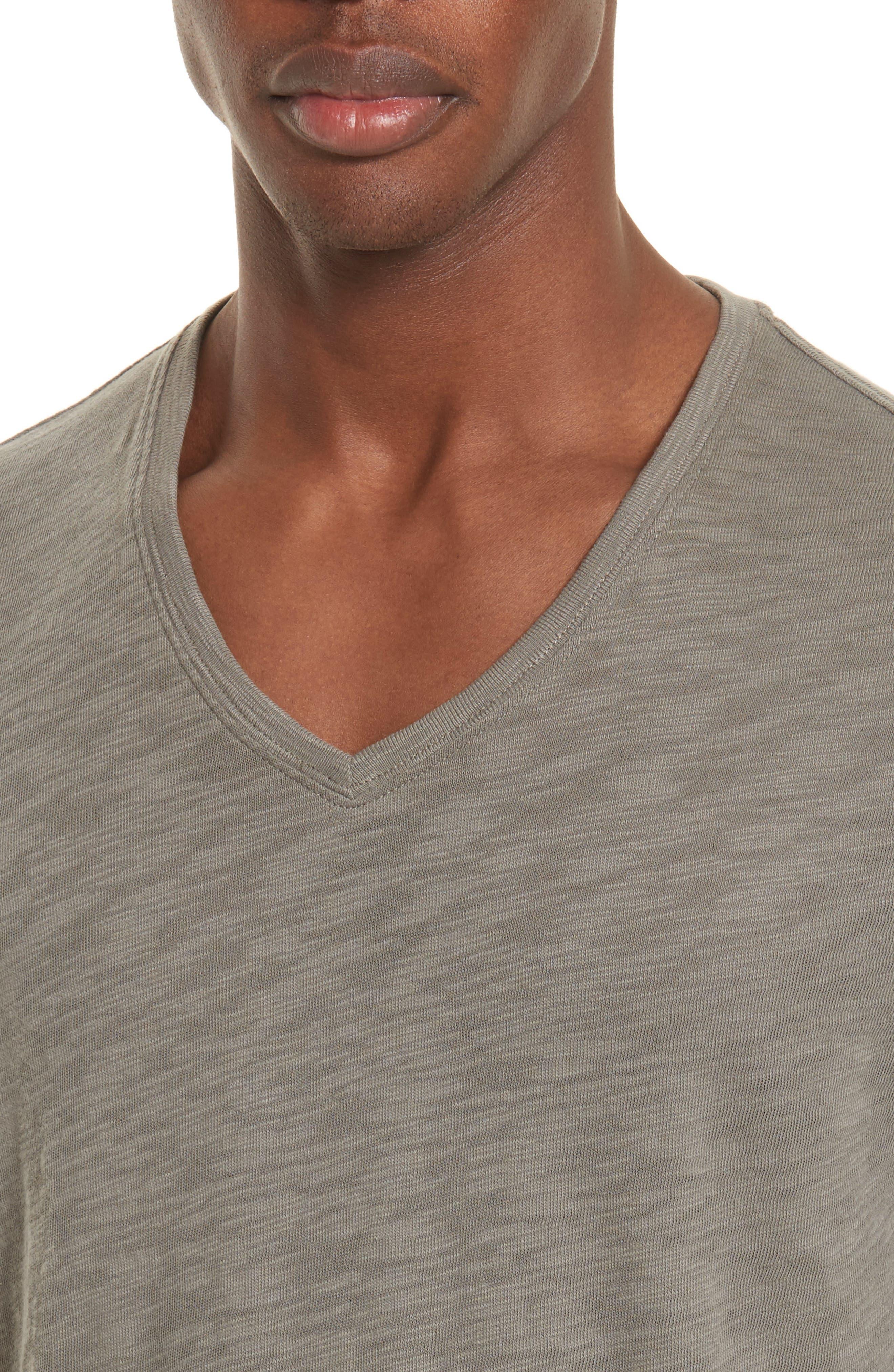 Slub V-Neck T-Shirt,                             Alternate thumbnail 4, color,                             302