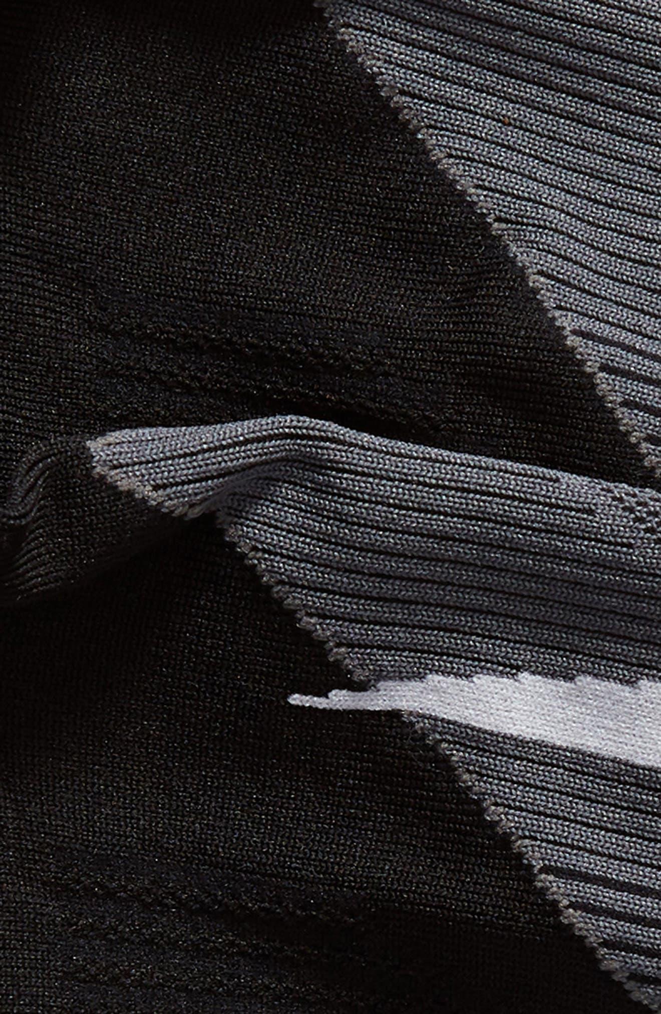 Elite Lightweight No-Show Socks,                             Alternate thumbnail 4, color,                             BLACK/ WHITE