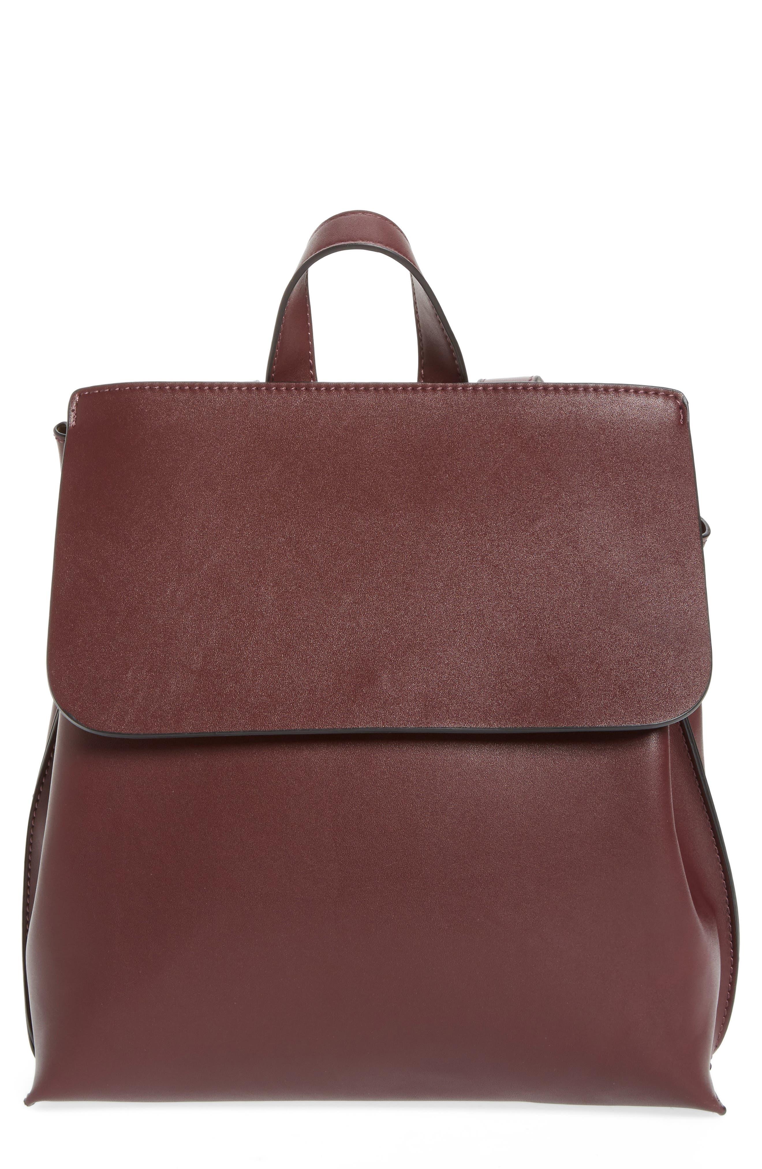 Selena Faux Leather Backpack,                             Alternate thumbnail 8, color,