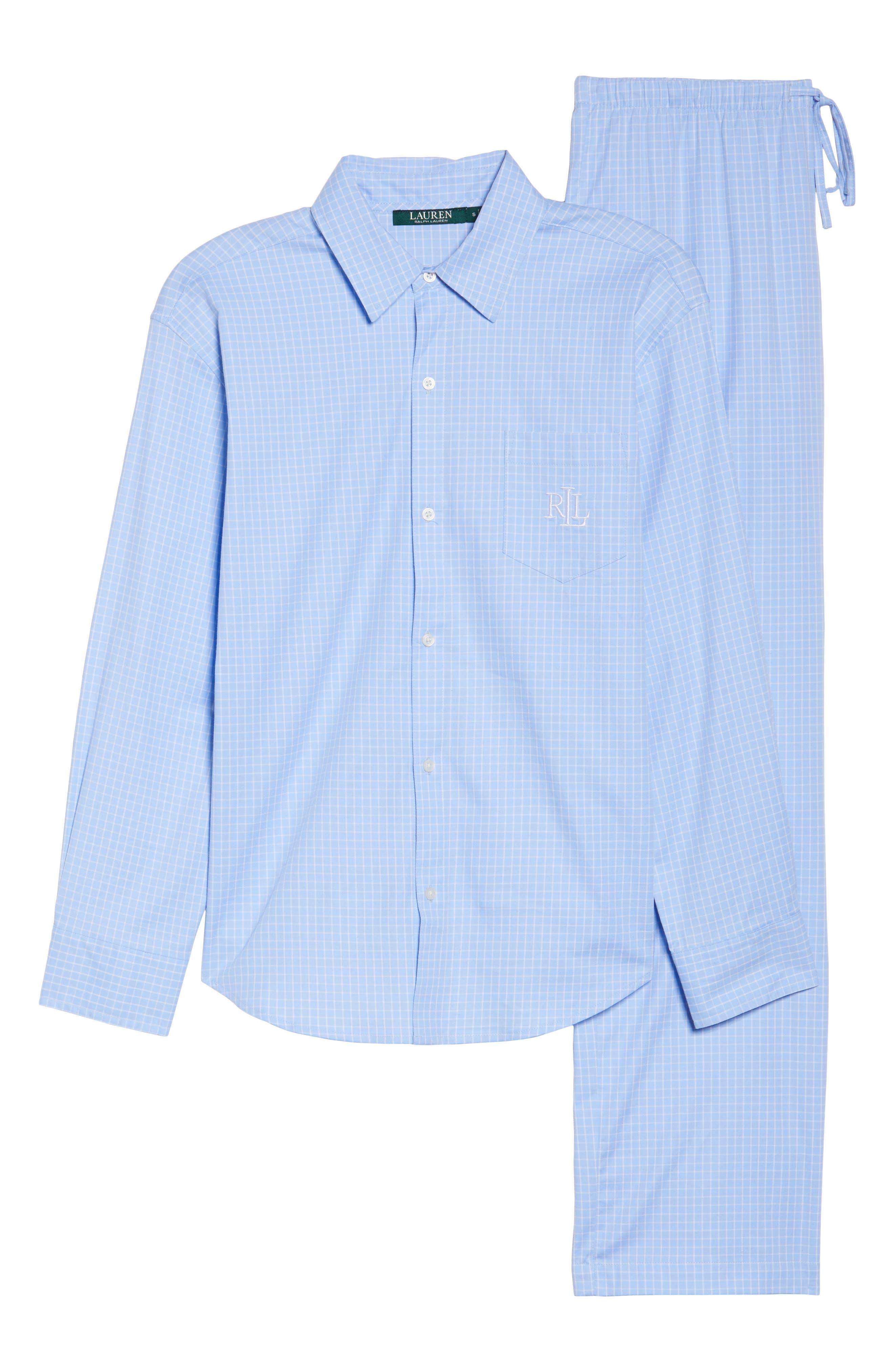 Stretch Cotton Pajamas,                             Alternate thumbnail 6, color,