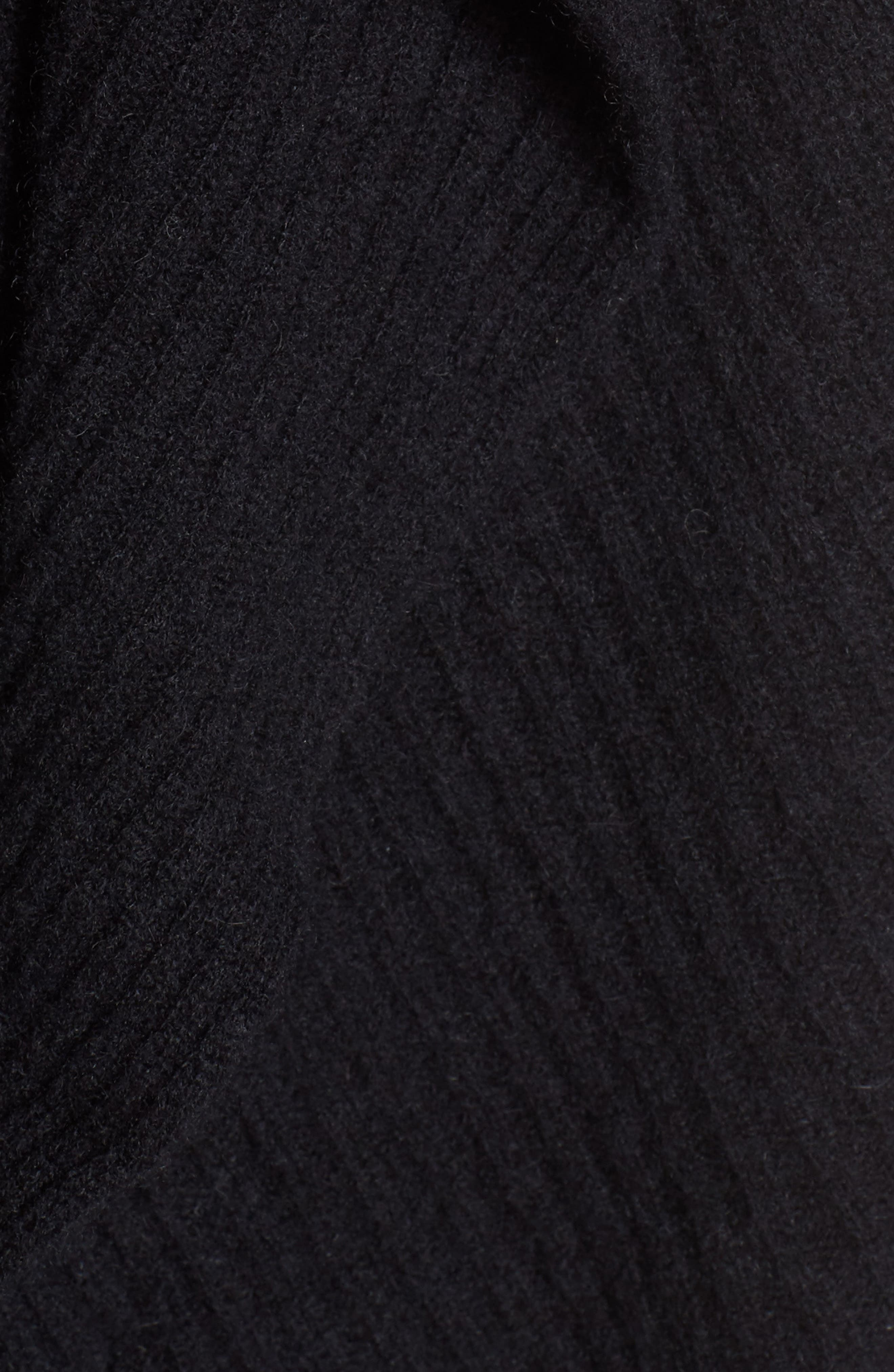 Cashmere Ruffle Wrap,                             Alternate thumbnail 5, color,                             BLACK