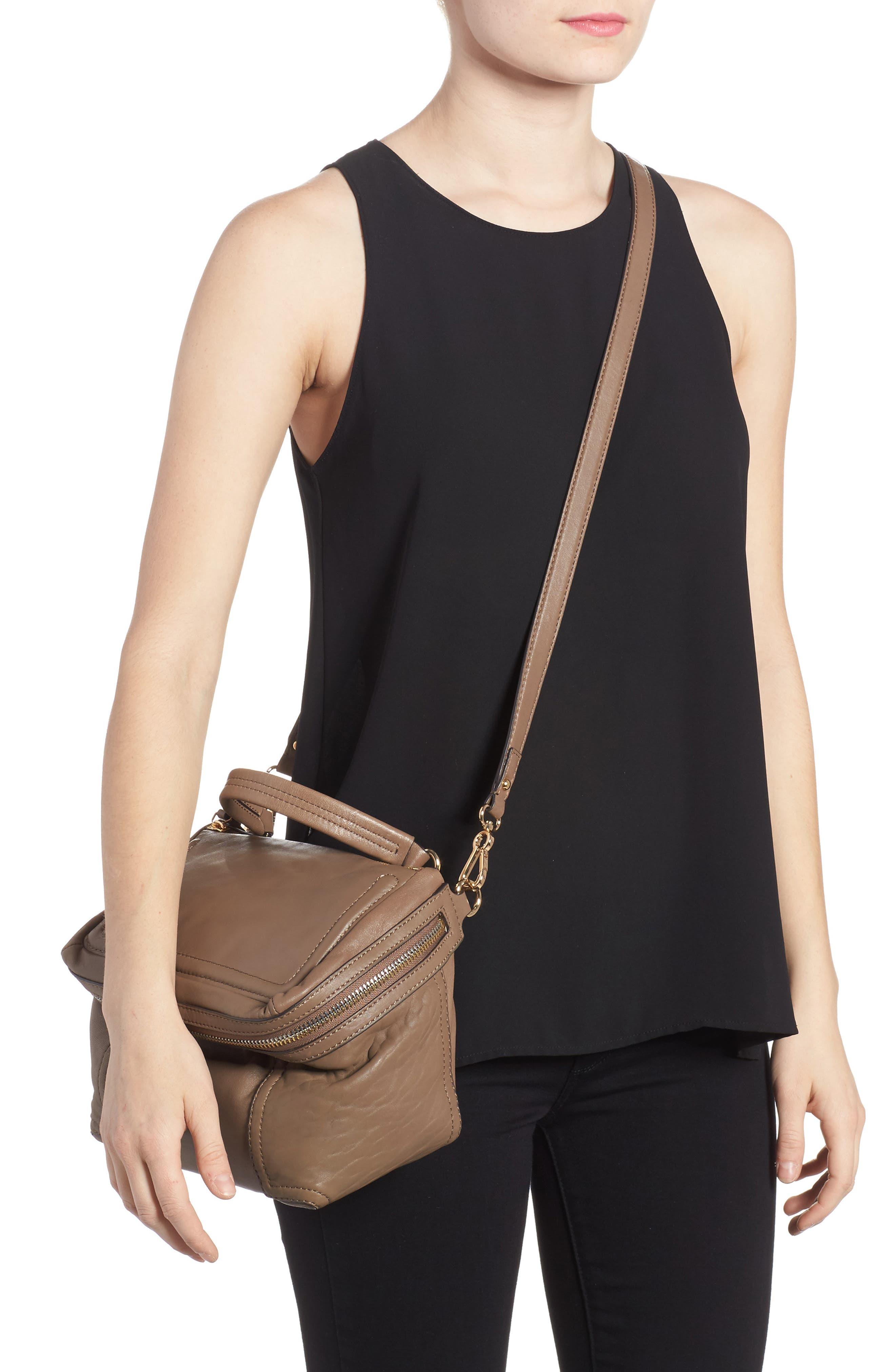 Medium Patch Leather Crossbody Bag,                             Alternate thumbnail 2, color,                             002