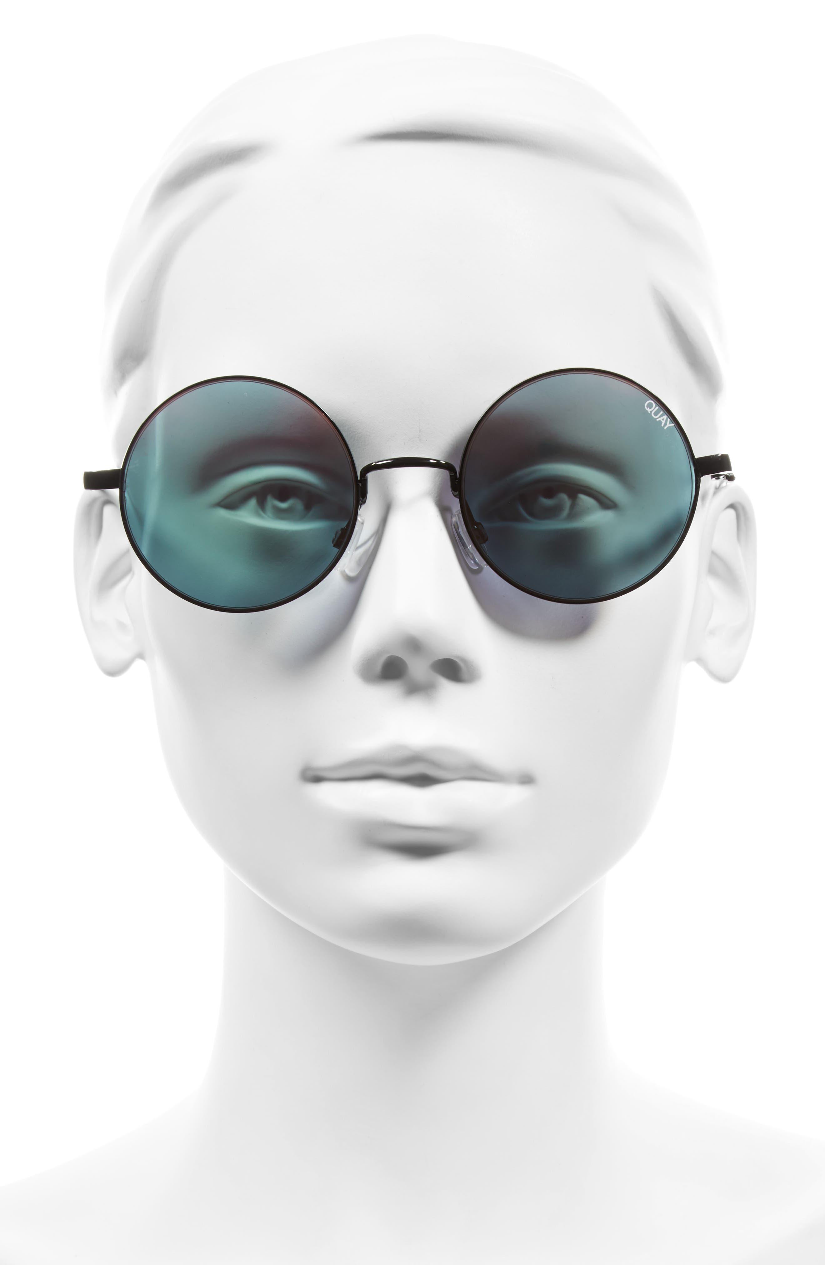 'Electric Dreams' 52mm Round Sunglasses,                             Alternate thumbnail 2, color,                             002