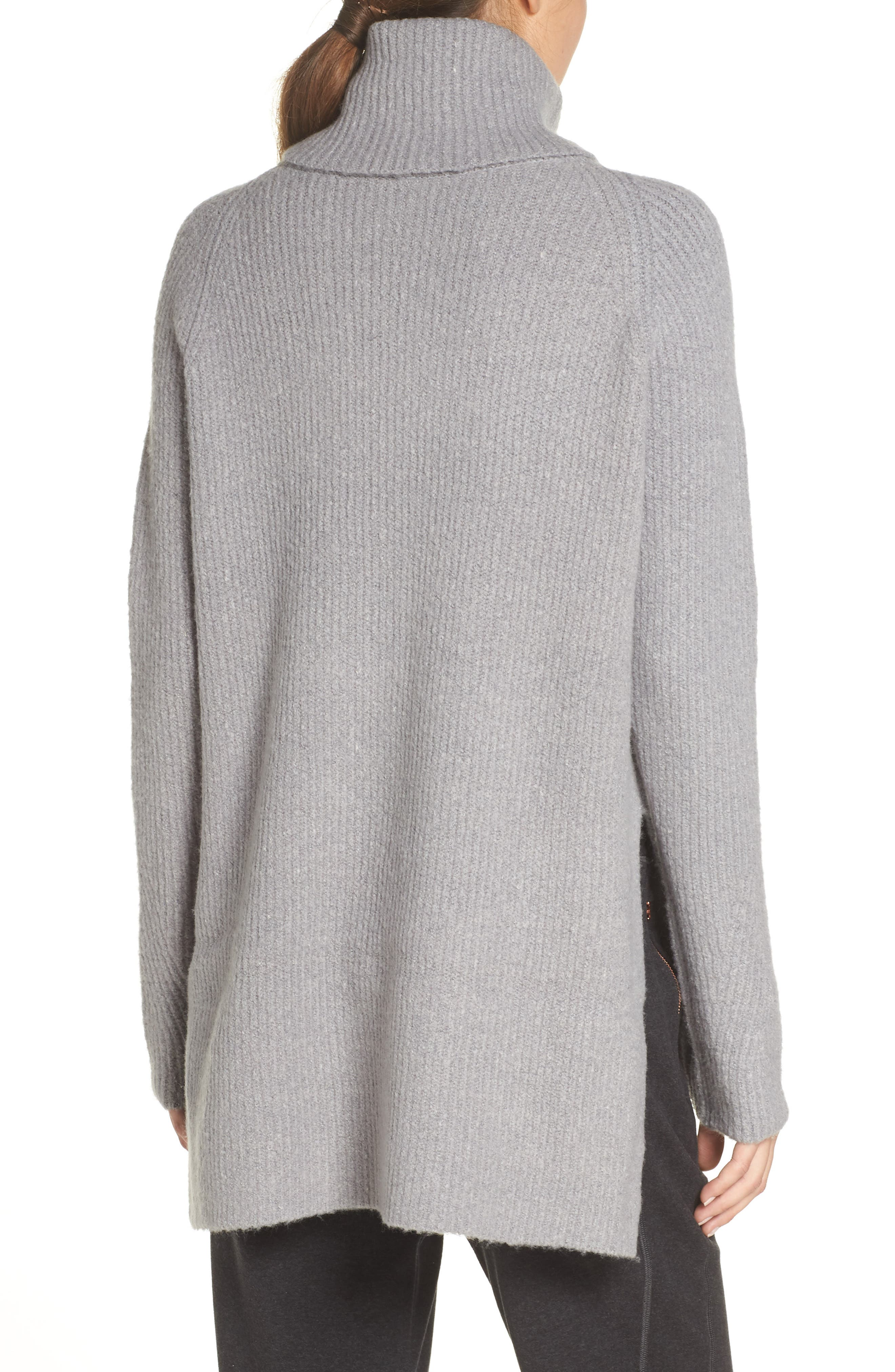 Shakti Oversize Sweater,                             Alternate thumbnail 2, color,                             SILVER GREY MARL