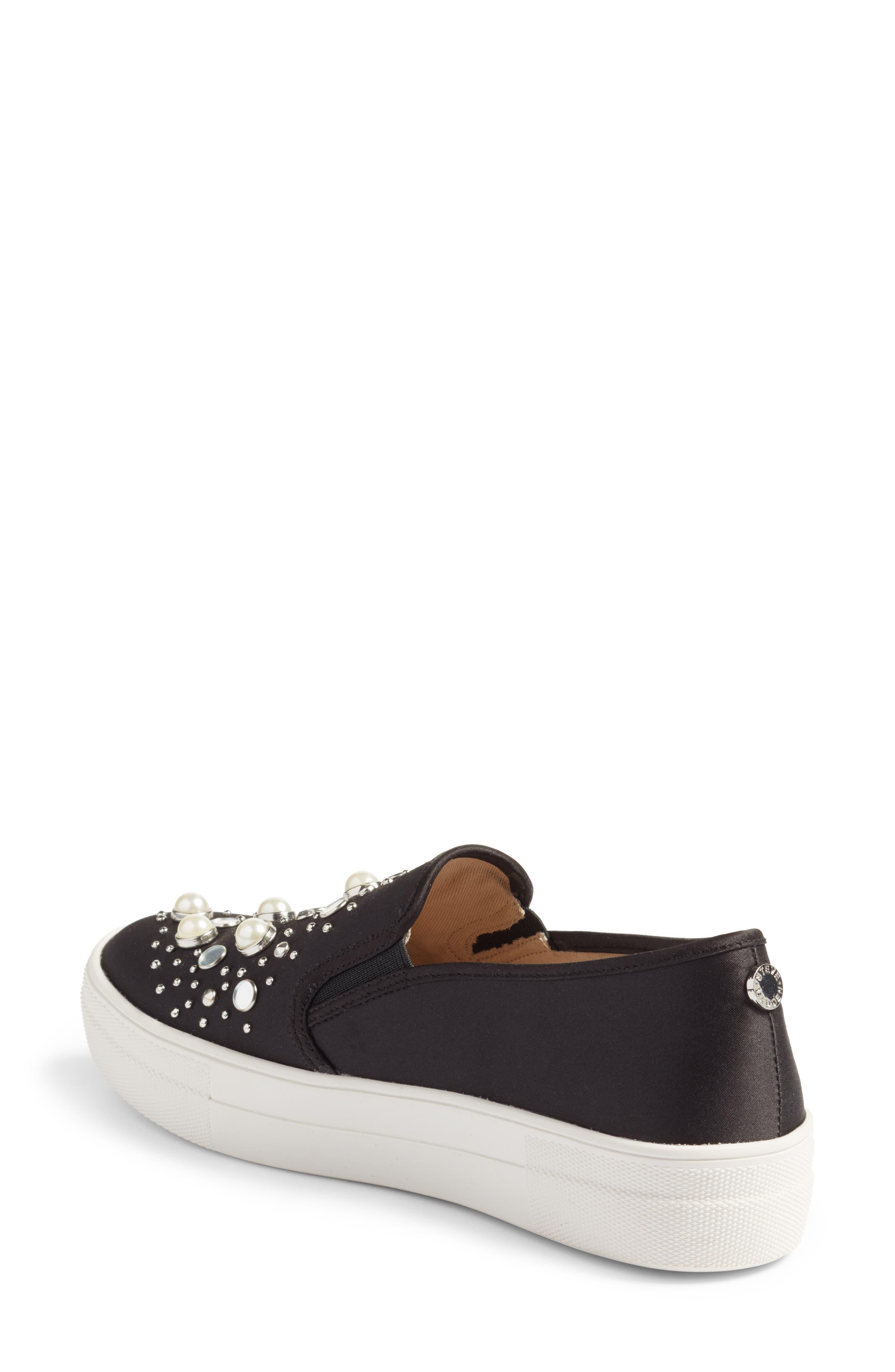 Glade Embellished Slip-On Sneaker,                             Alternate thumbnail 2, color,                             001
