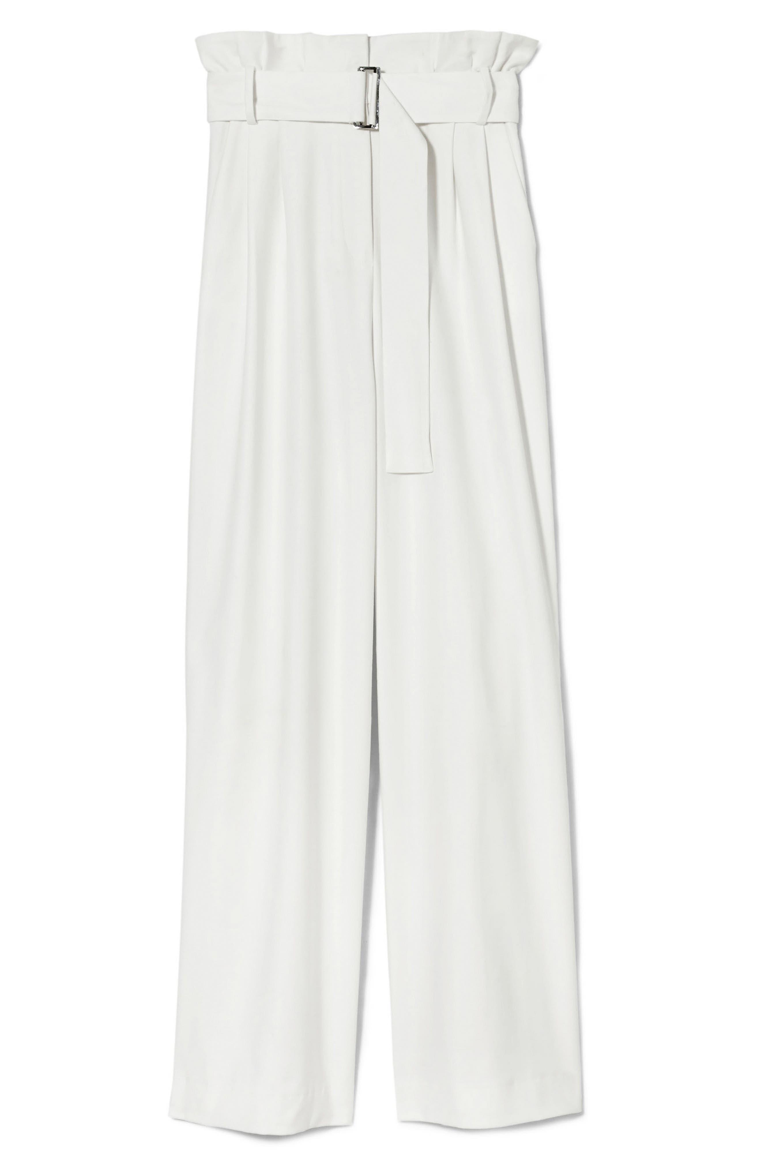 Wide Leg Belted Pants,                             Alternate thumbnail 5, color,