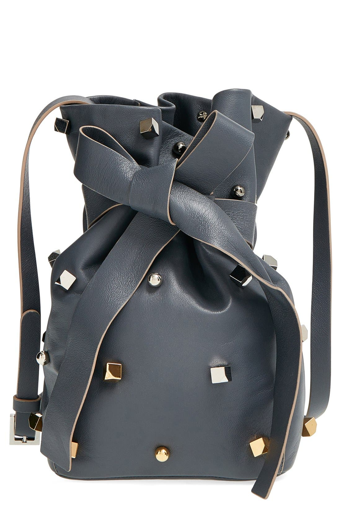 'Eve' Studded Bucket Bag,                             Main thumbnail 1, color,                             400