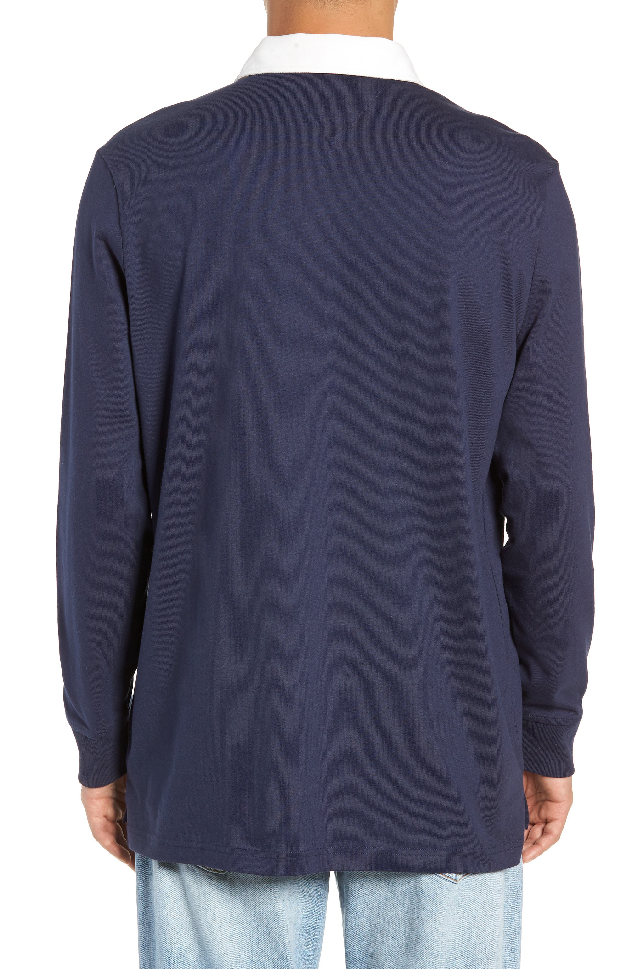 TJM Essential Rugby Shirt,                             Alternate thumbnail 2, color,                             BLACK IRIS