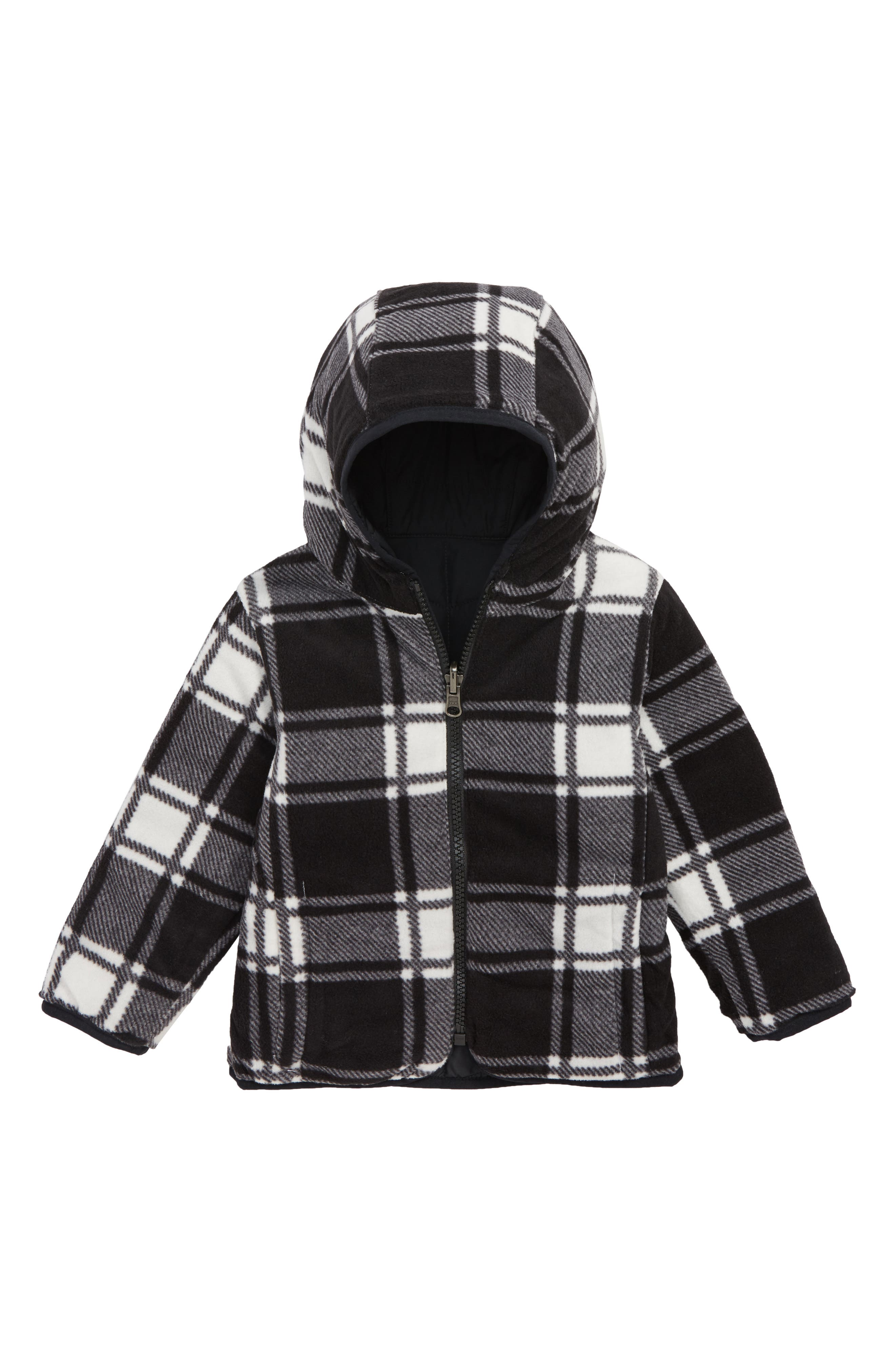 Double Trouble Omni-Shield Reversible Water-Resistant Hooded Jacket,                             Alternate thumbnail 2, color,                             BLACK