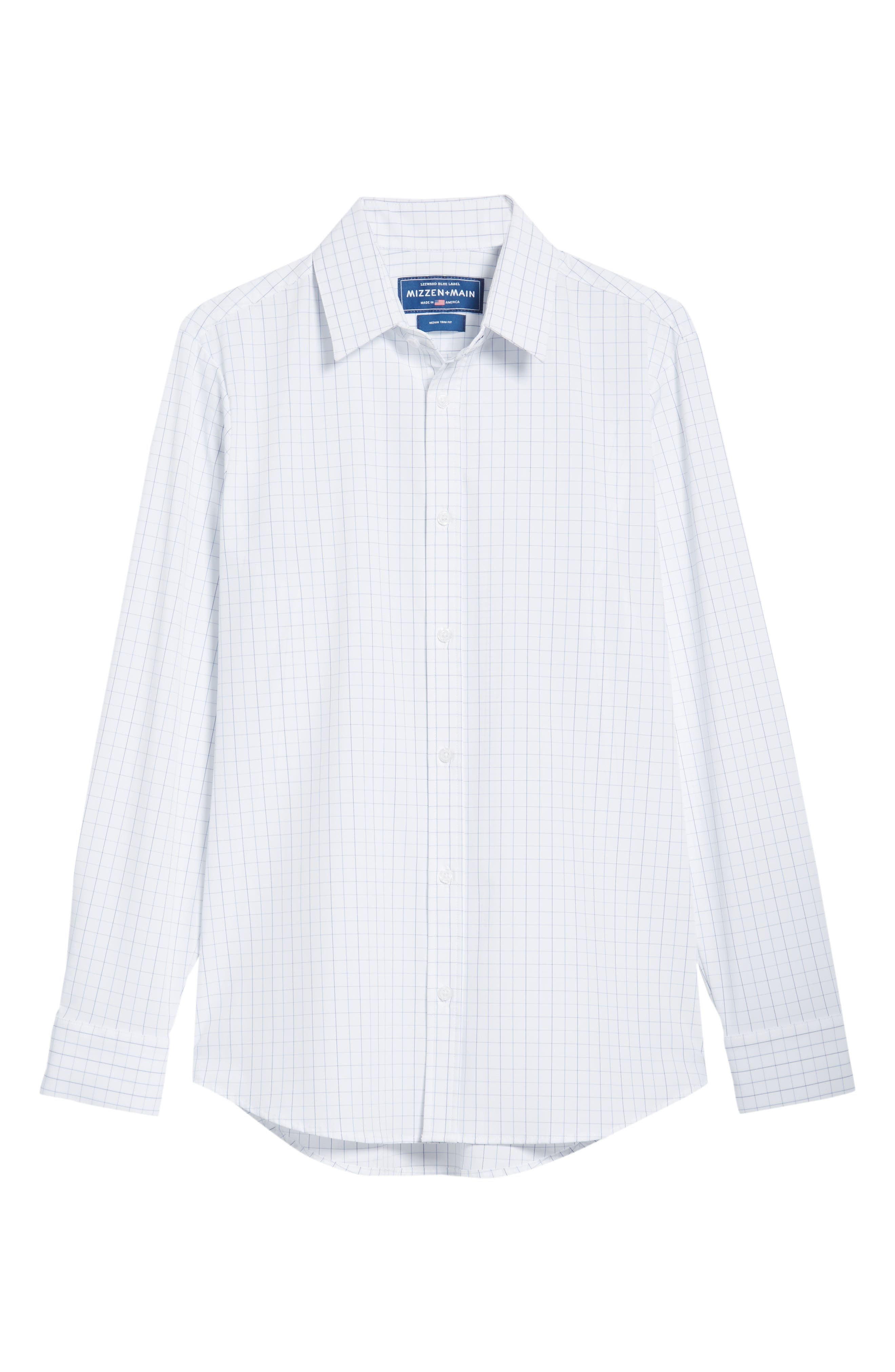 Buckner Slim Fit Grid Performance Sport Shirt,                             Alternate thumbnail 6, color,                             400