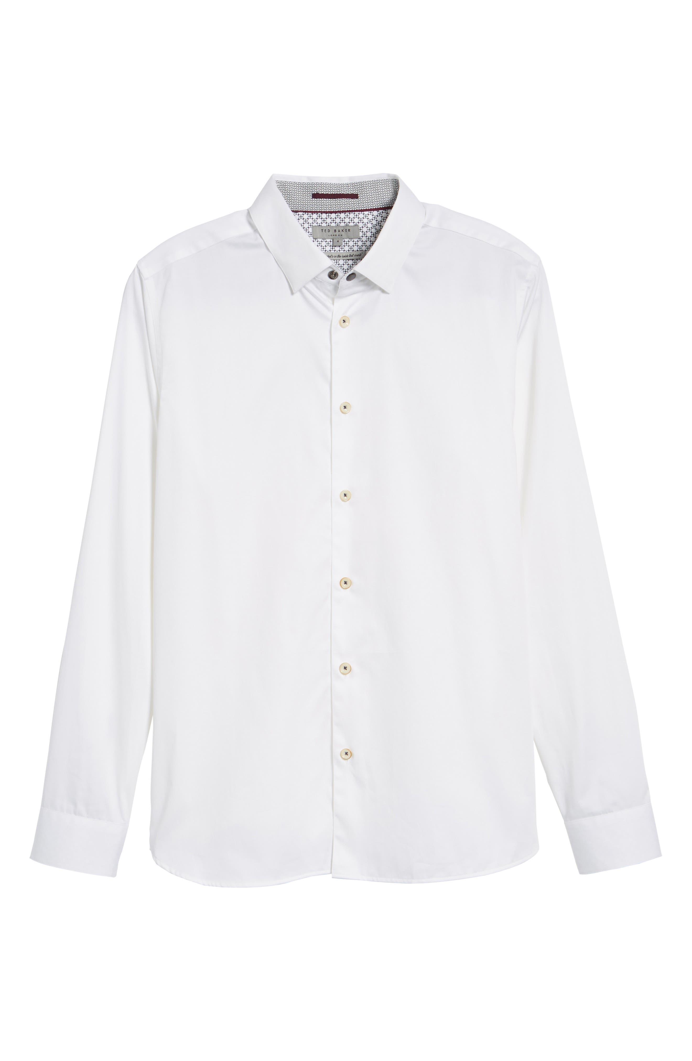 Byllytt Extra Slim Fit Stretch Solid Sport Shirt,                             Alternate thumbnail 6, color,                             100