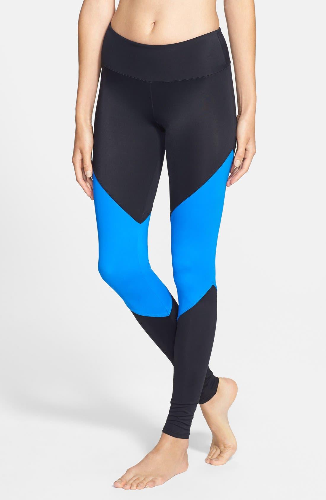 Colorblock Track Leggings,                         Main,                         color, 001