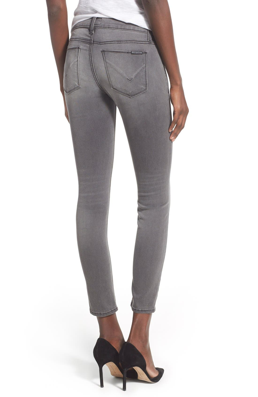 'Krista' Ankle Super Skinny Jeans,                             Alternate thumbnail 4, color,                             020