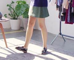 Stylist selects video on menswear flats for women.