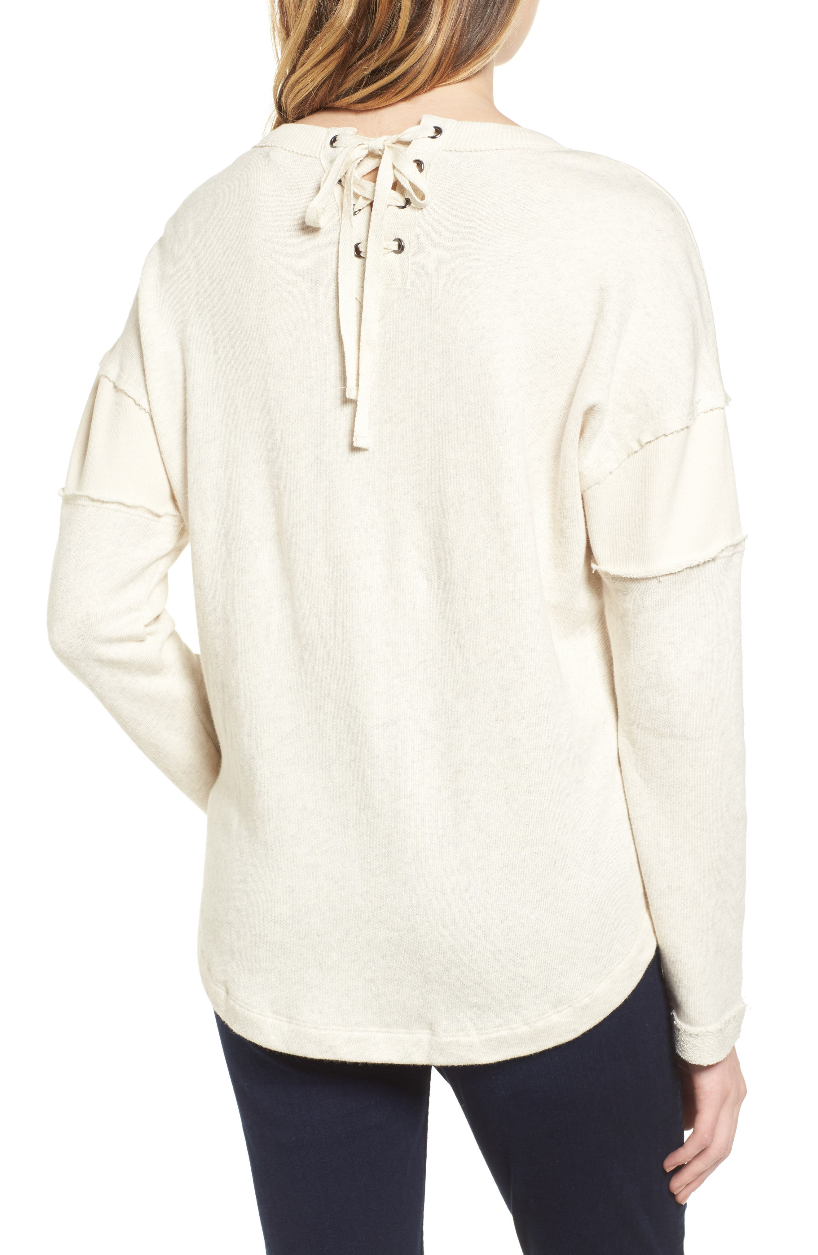 Seabrook Stripe Sweatshirt,                             Alternate thumbnail 2, color,                             909