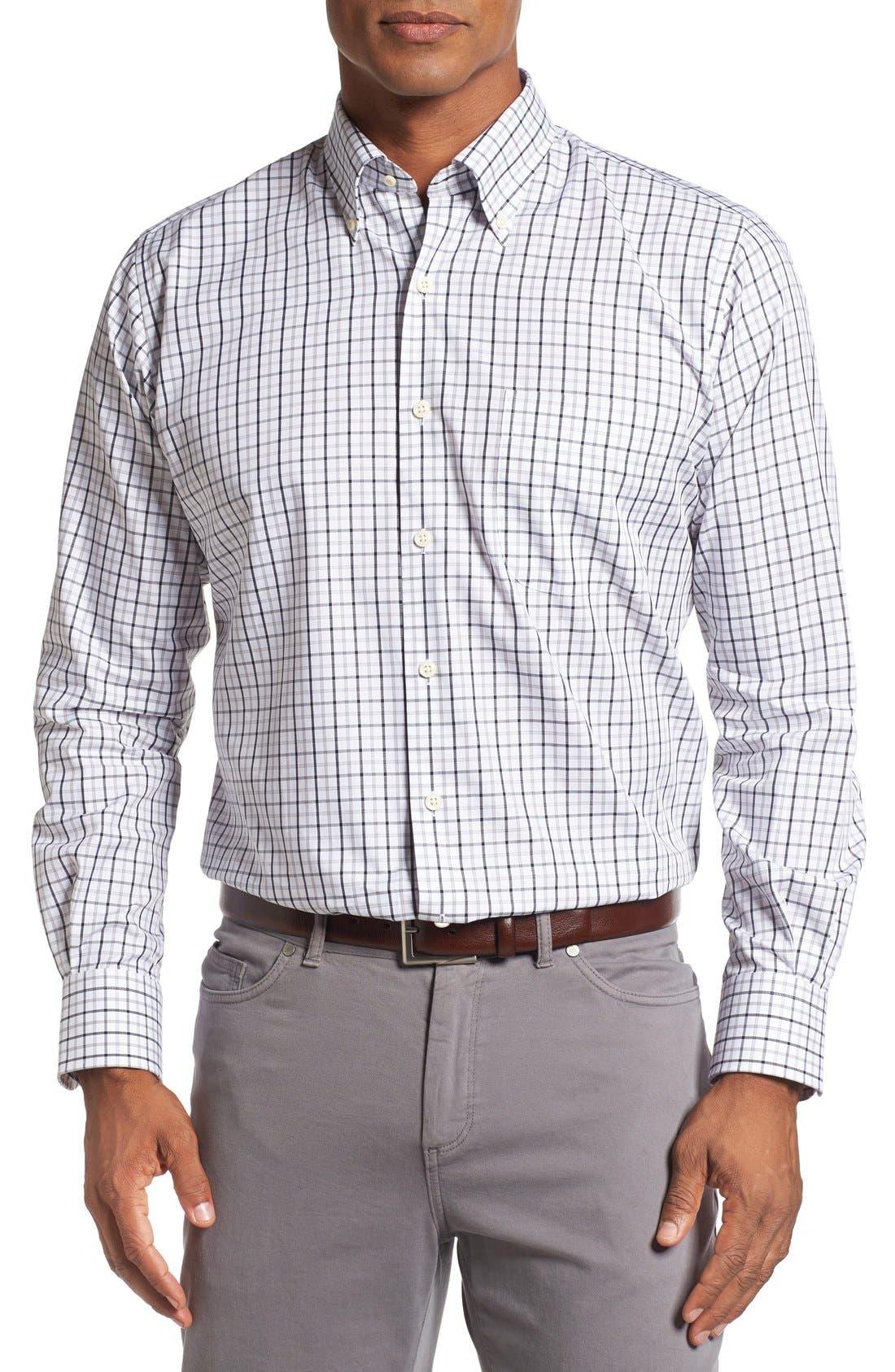 Regular Fit Tattersall Plaid Sport Shirt,                         Main,                         color, 001