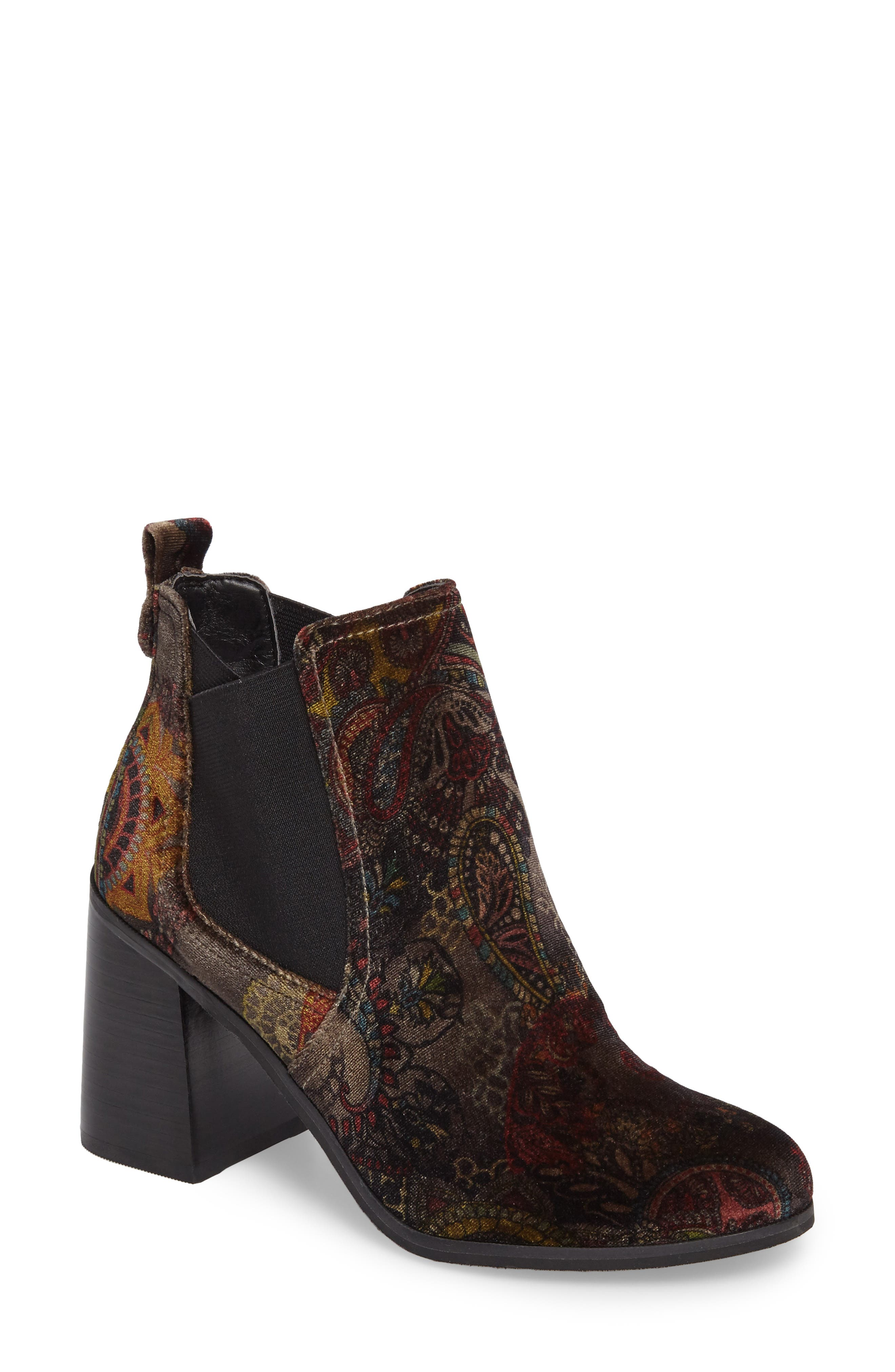 Quinn Flared Heel Chelsea Bootie,                             Main thumbnail 4, color,