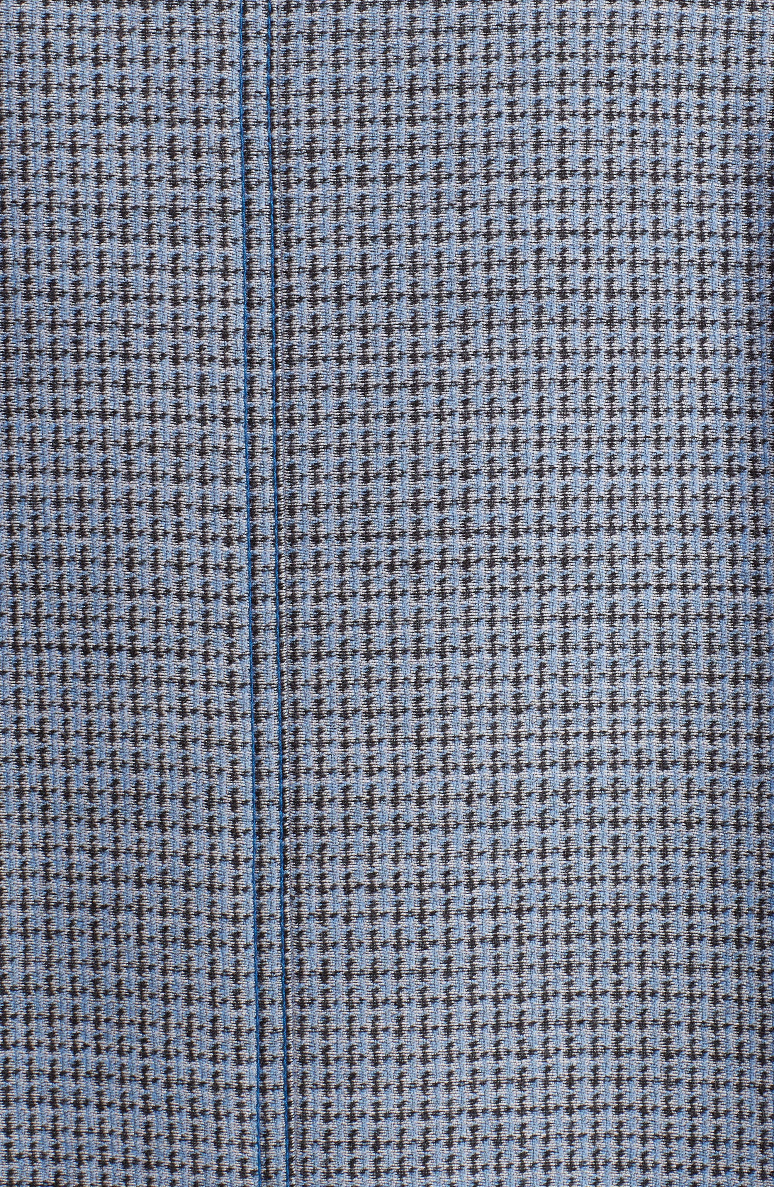 Genuine Mink Fur Collar Wool & Silk Blend Coat,                             Alternate thumbnail 7, color,                             ANTIGUA BLUE
