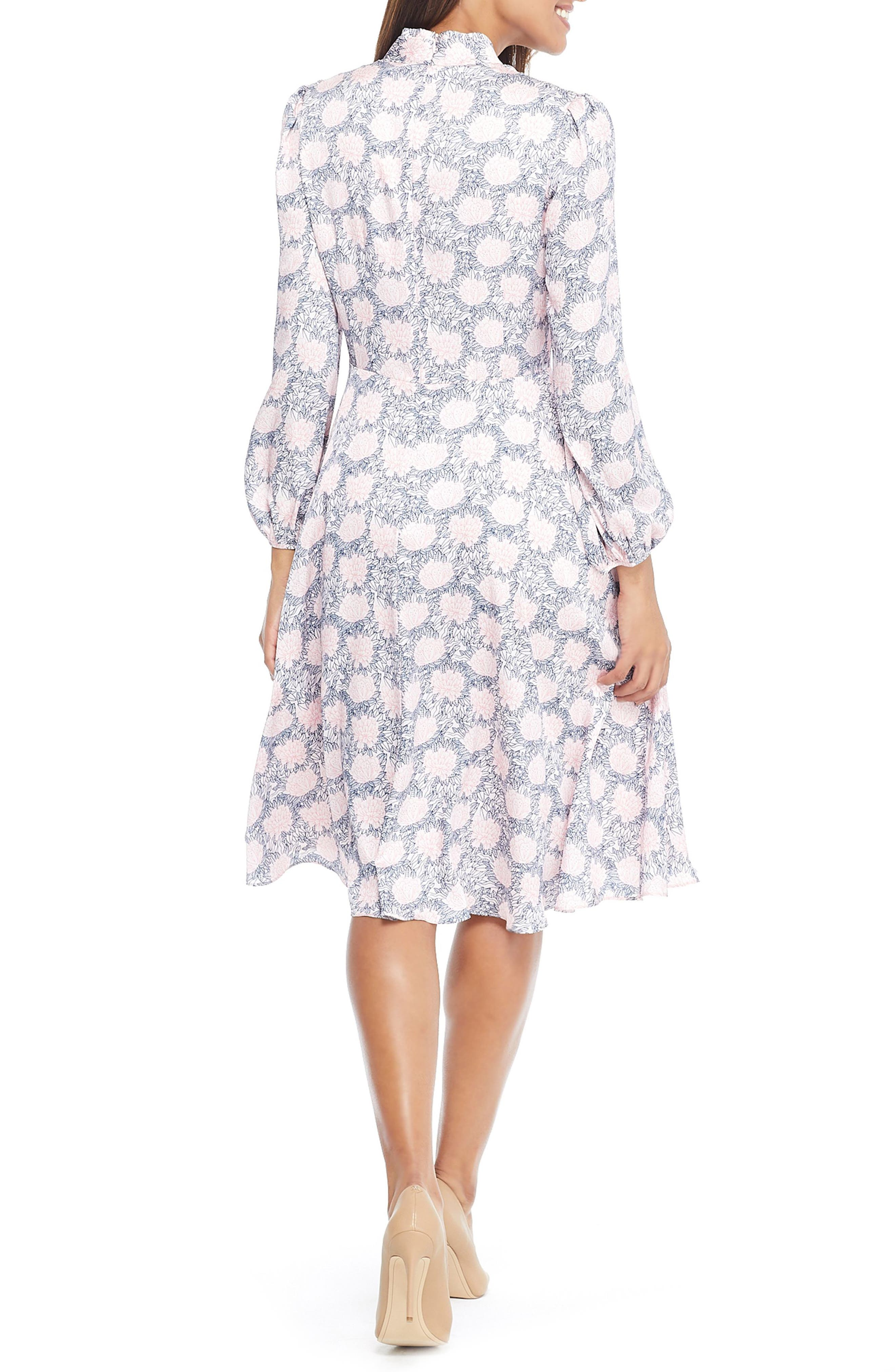 Lizzie Floral Dress,                             Alternate thumbnail 2, color,                             PINK/ UPTOWN PINK