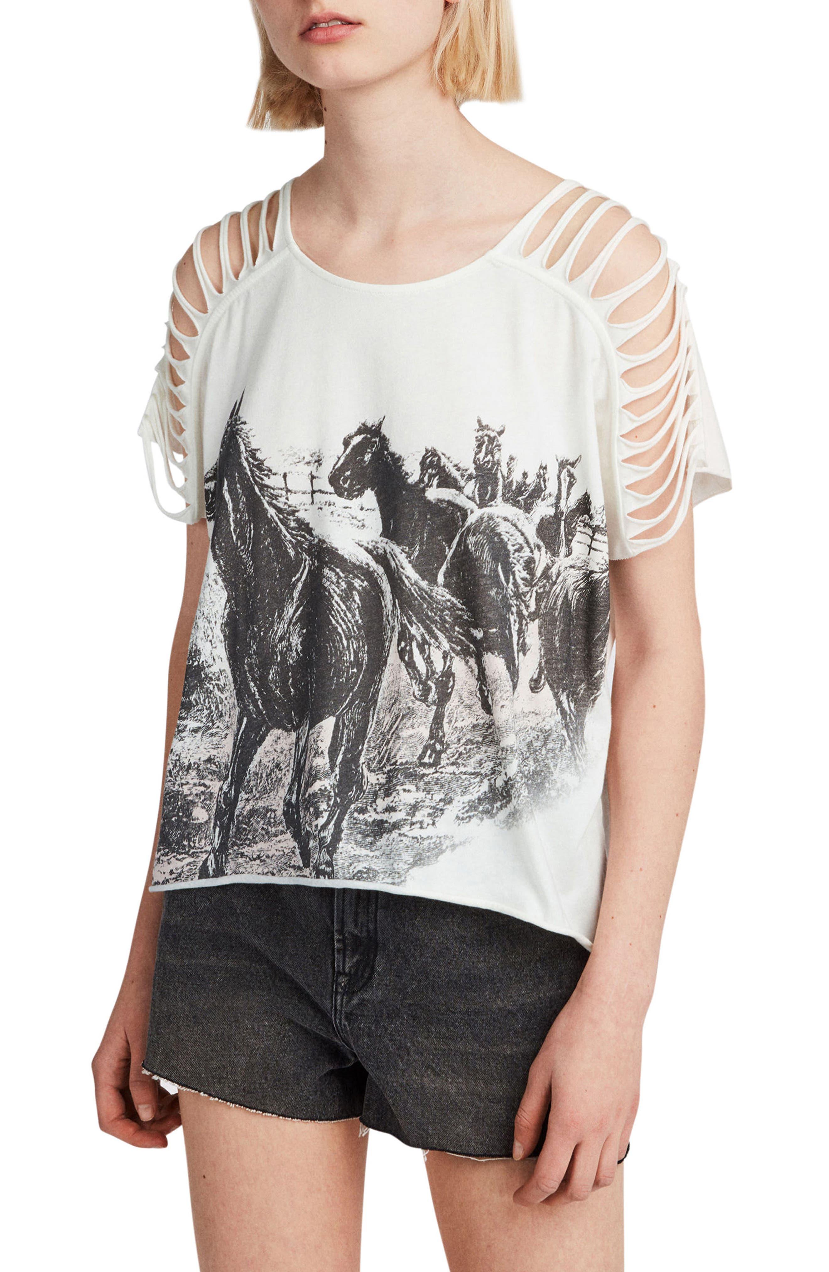 Riders Slash Shoulder Tee,                         Main,                         color, CHALK WHITE