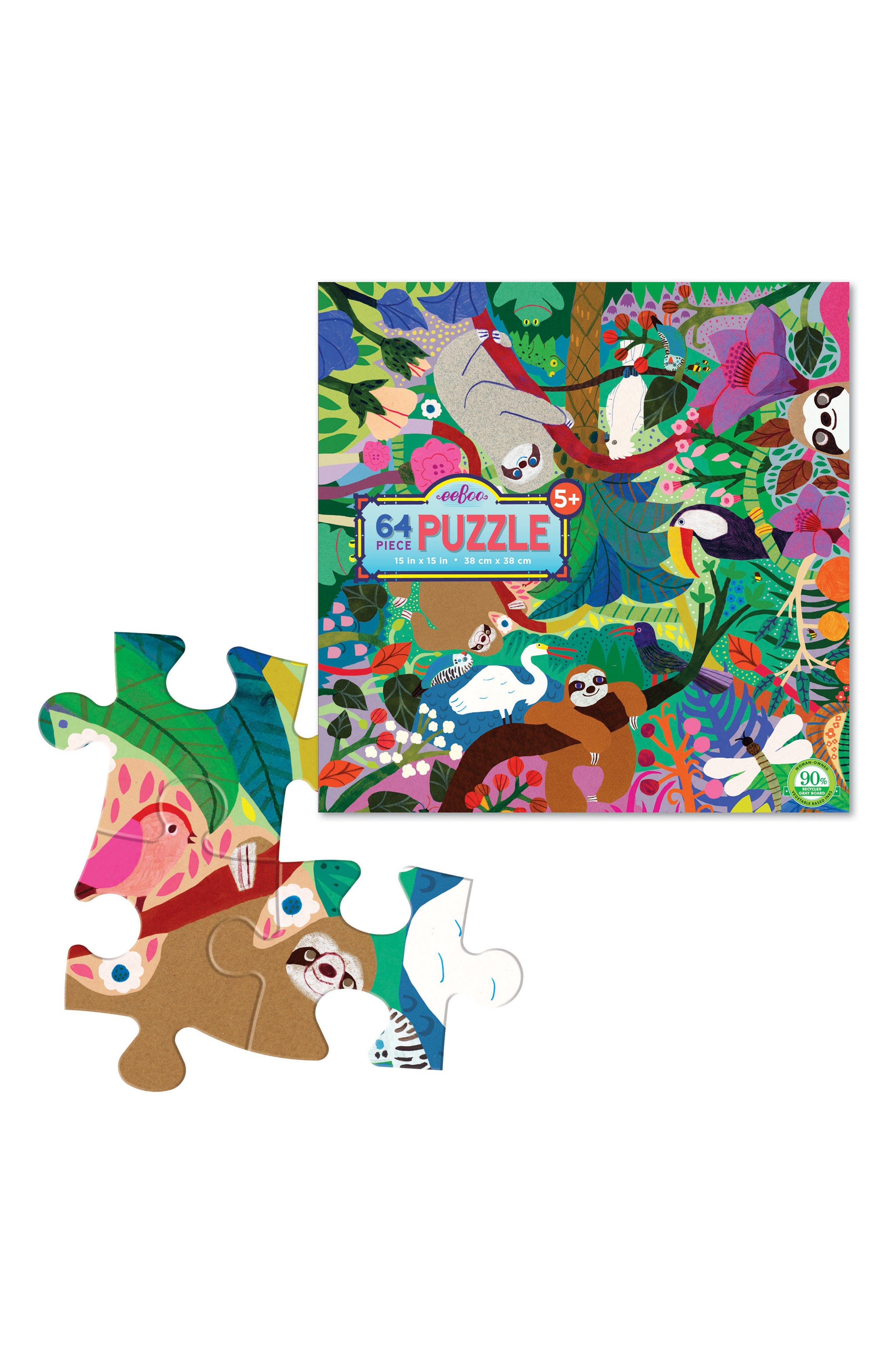 Sloths at Play 64-Piece Puzzle,                             Alternate thumbnail 2, color,                             300