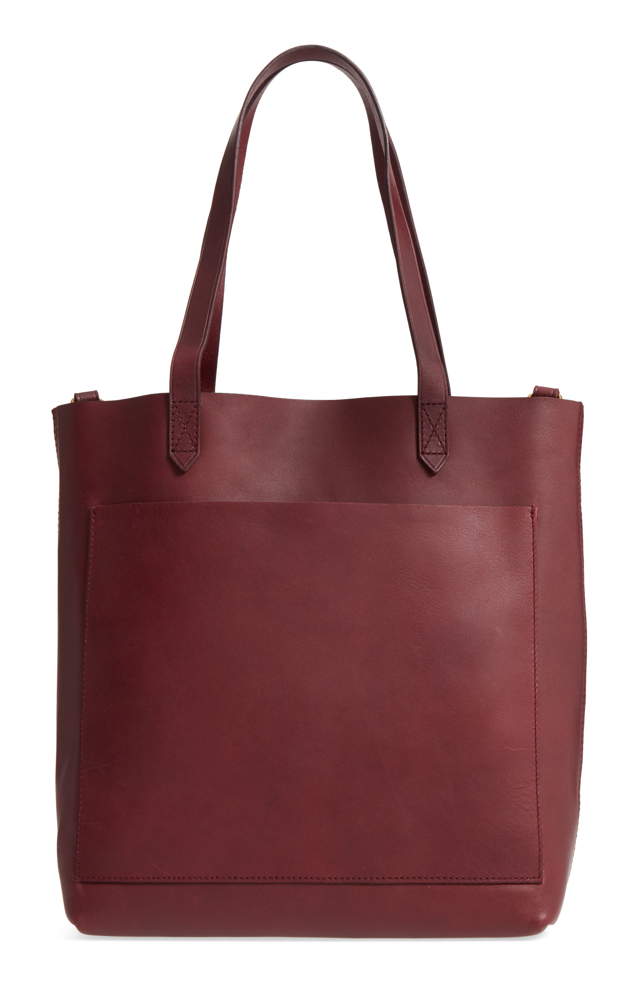 Medium Leather Transport Tote,                         Main,                         color, DARK CABERNET