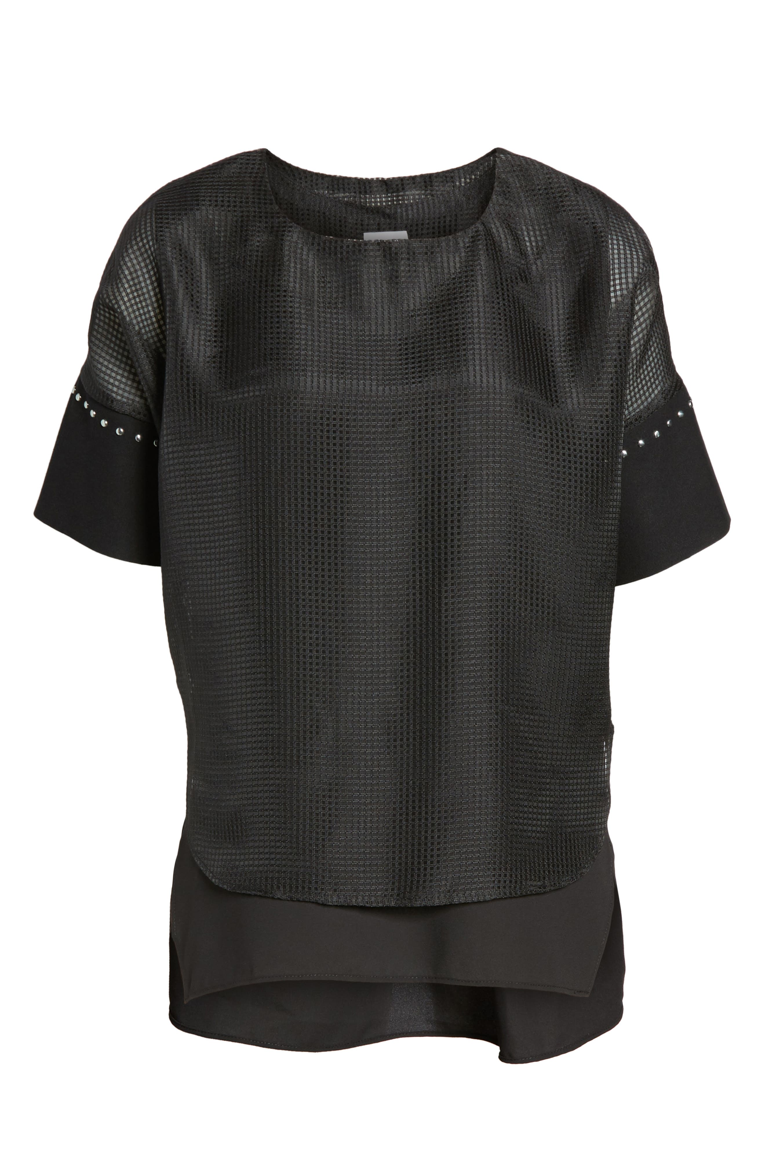 Mesh Layered Top,                             Alternate thumbnail 6, color,                             001