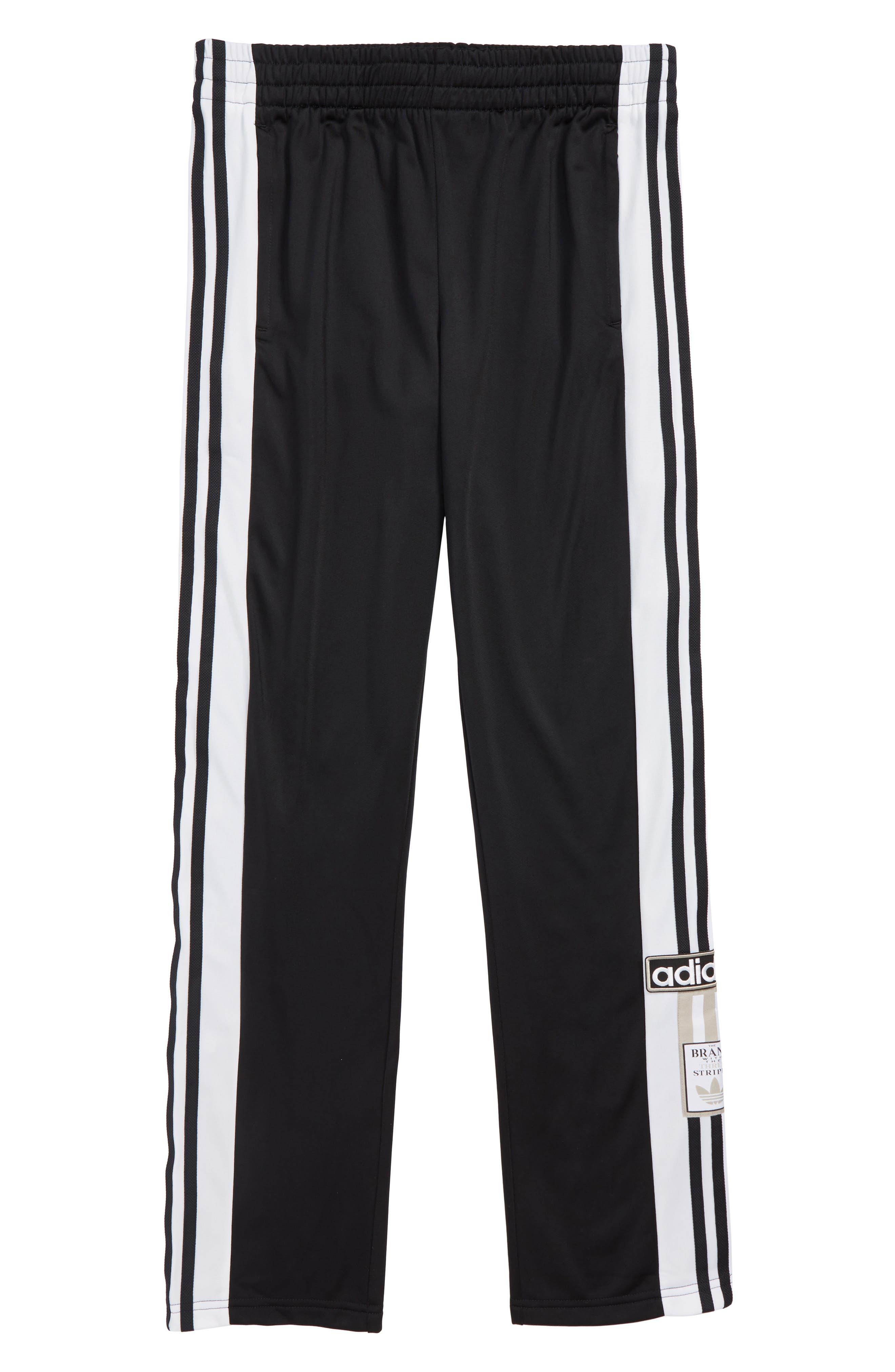 Adibreak Track Pants,                             Main thumbnail 1, color,                             BLACK/ WHITE