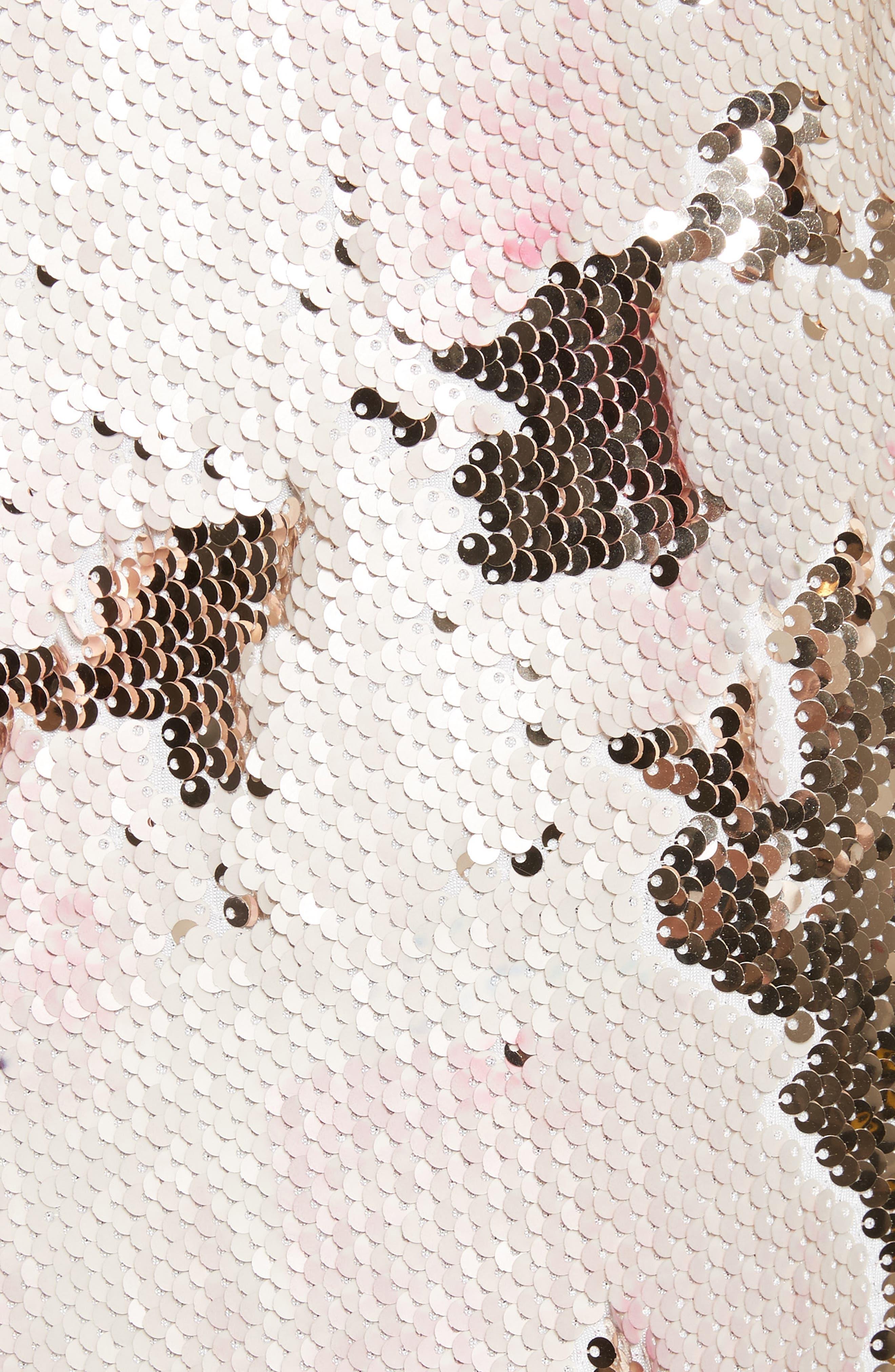 Slacken Sequined Dress,                             Alternate thumbnail 5, color,                             658