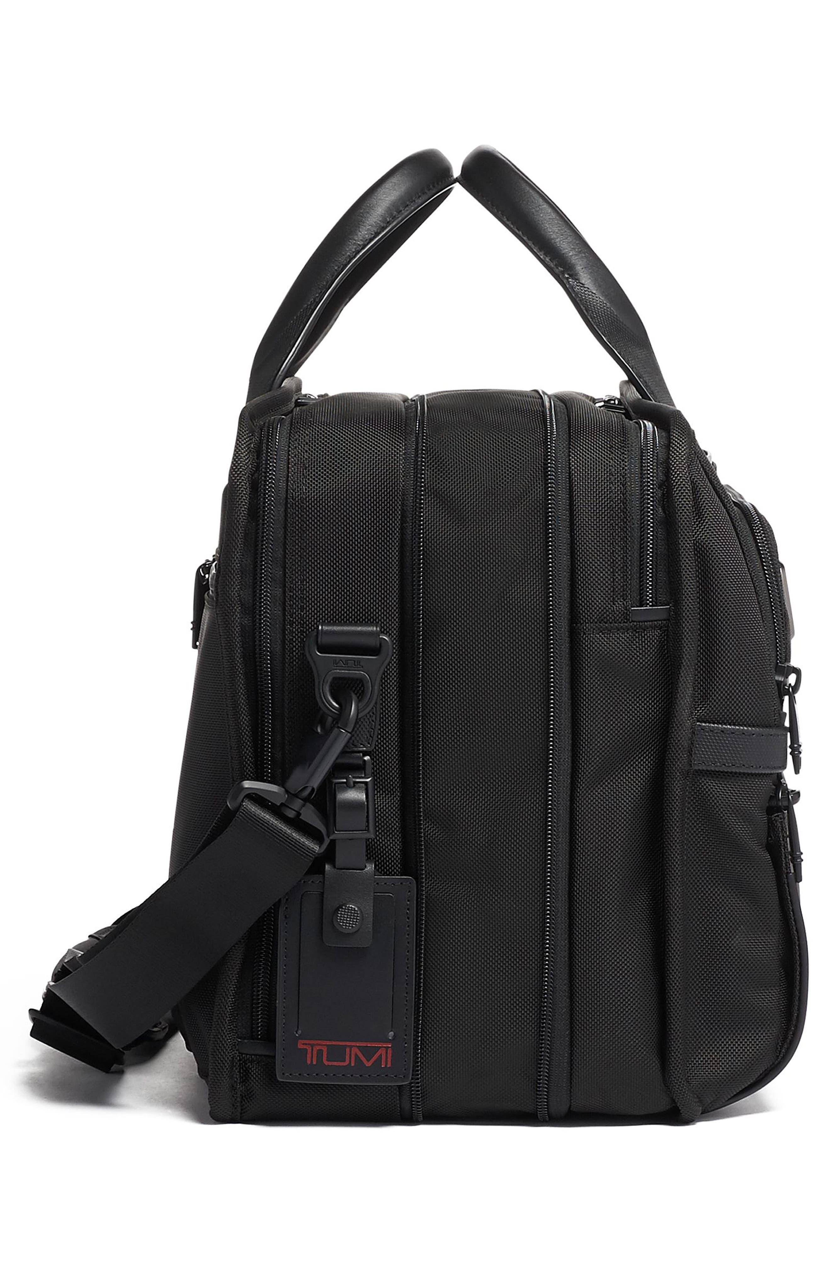 TUMI,                             Alpha 3 T-Pass<sup>®</sup> Expandable Laptop Briefcase,                             Alternate thumbnail 3, color,                             BLACK