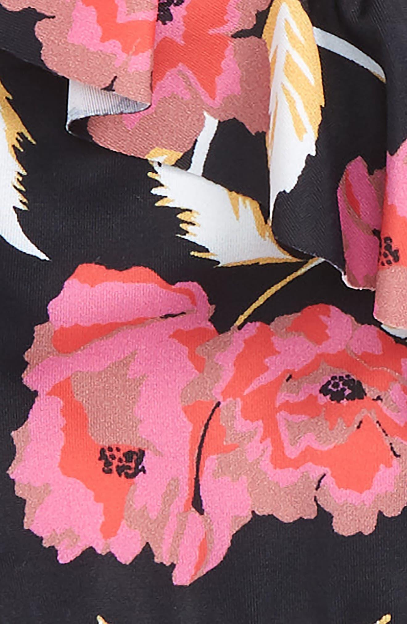 Floral Dawn Two-Piece Swimsuit,                             Alternate thumbnail 2, color,                             BLACK PEBBLE