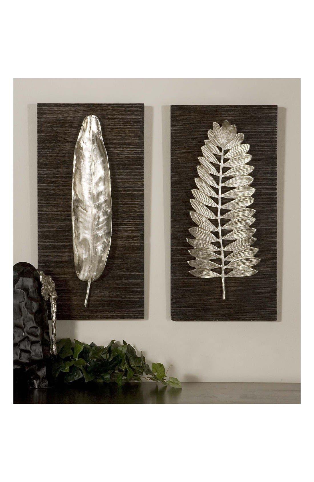 'Silver Leaves' Wall Art,                             Alternate thumbnail 2, color,                             040