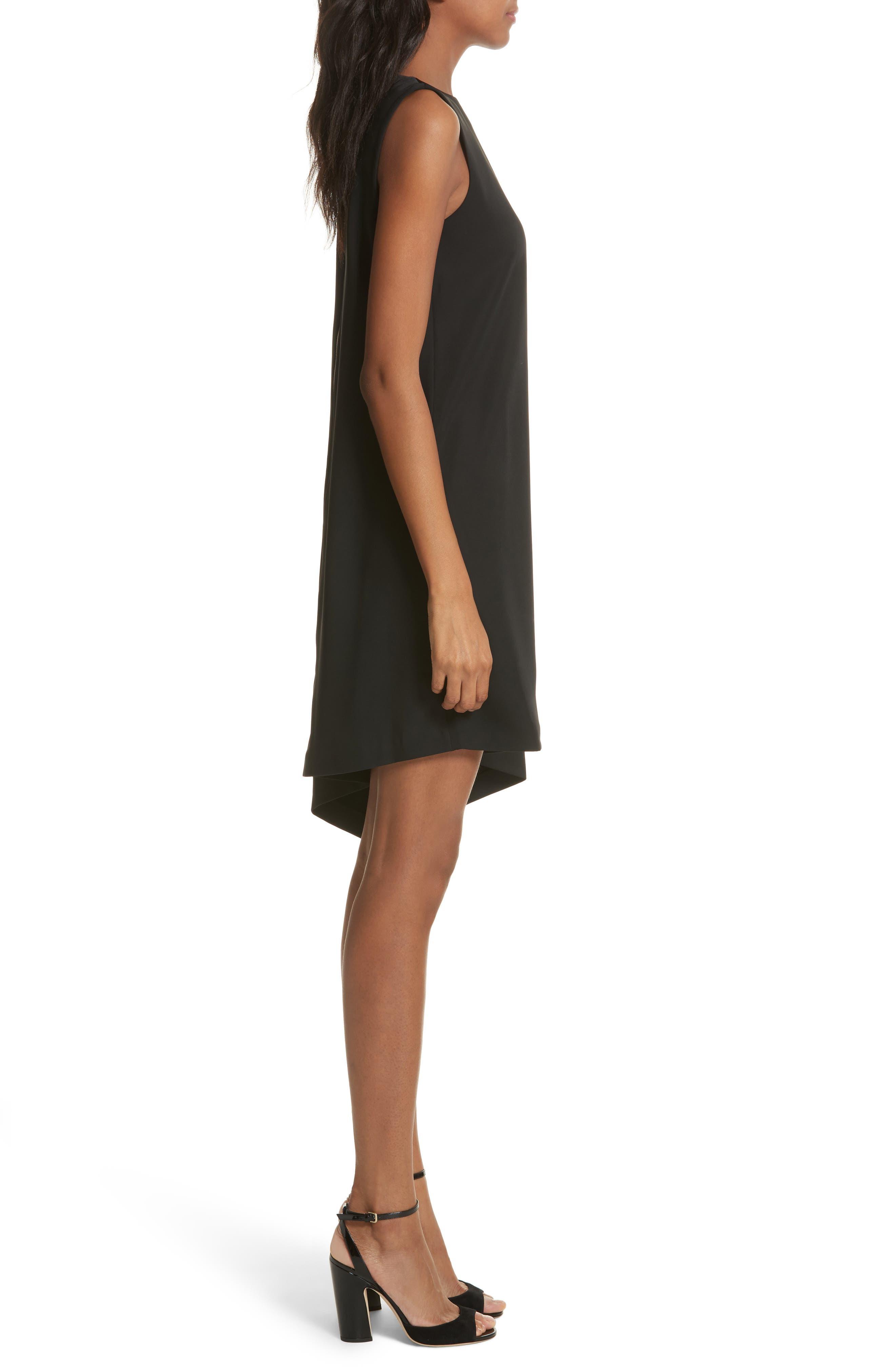 Oversize Drape Front Dress,                             Alternate thumbnail 3, color,                             001