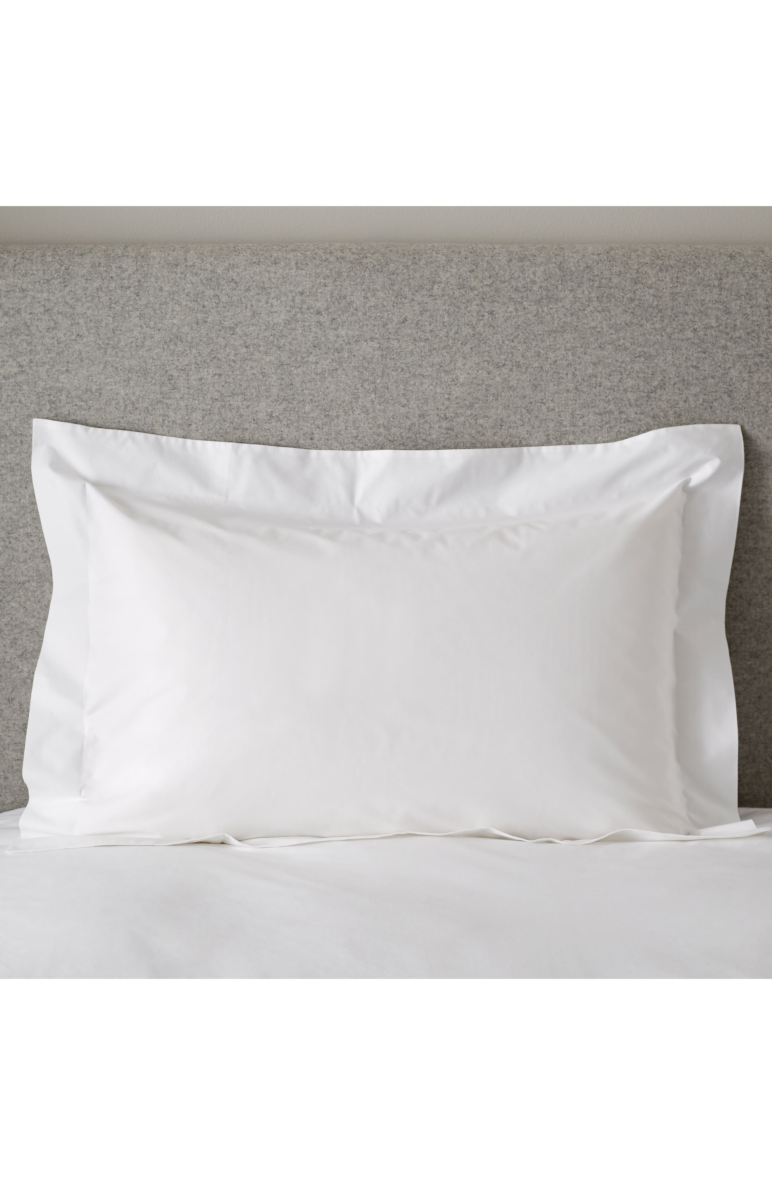 THE WHITE COMPANY,                             200 Thread Count Egyptian Cotton Oxford Set of 2 Shams,                             Main thumbnail 1, color,                             WHITE