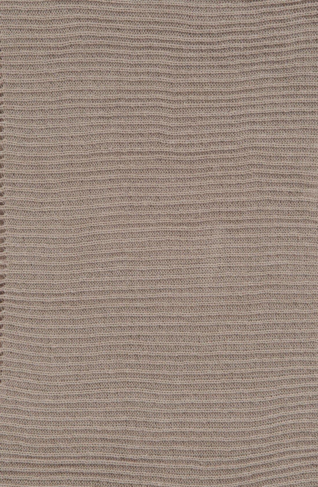 Rib Knit Fringe Infinity Scarf,                             Alternate thumbnail 8, color,