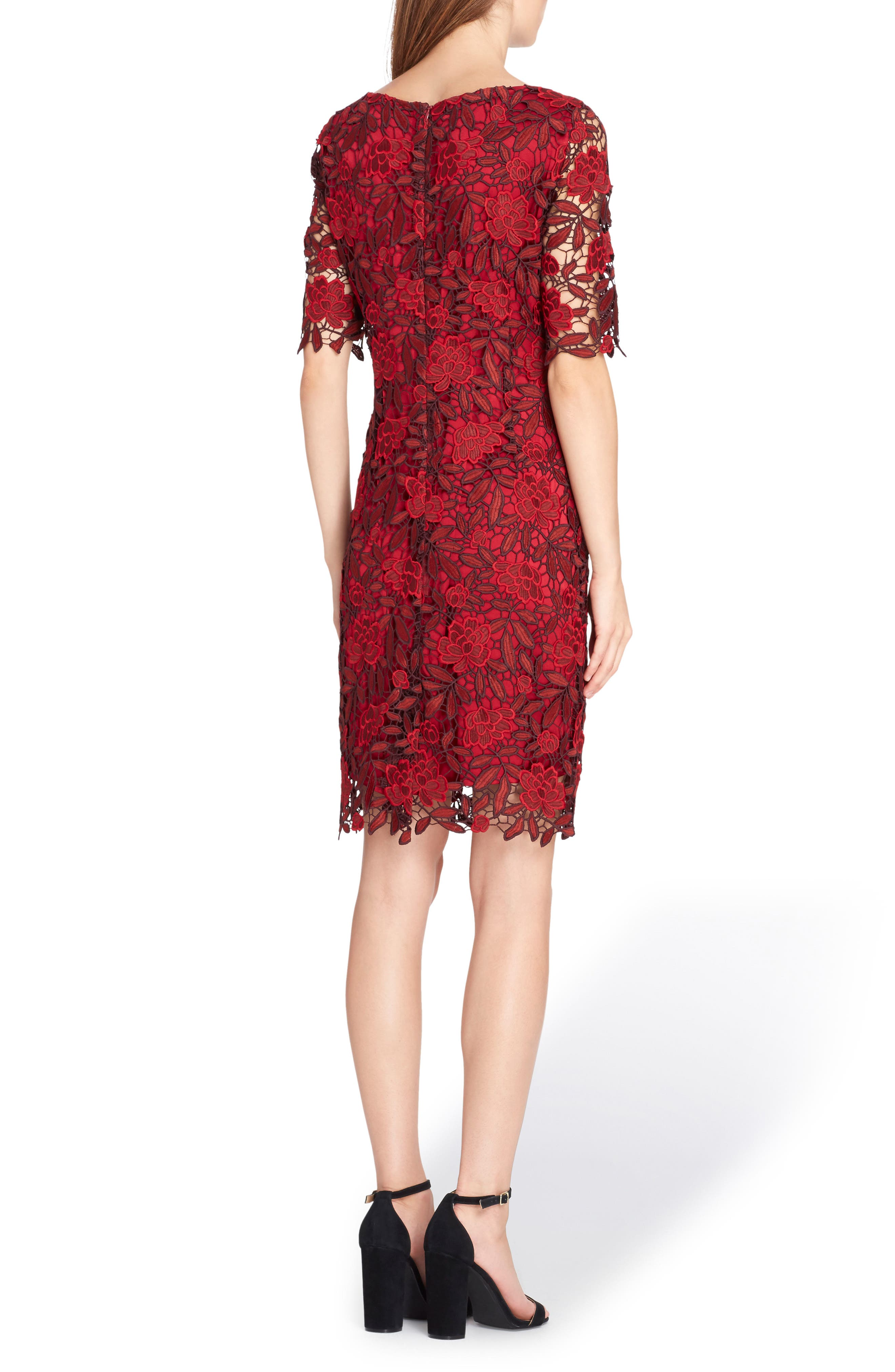 Lace Overlay Sheath Dress,                             Alternate thumbnail 2, color,                             648