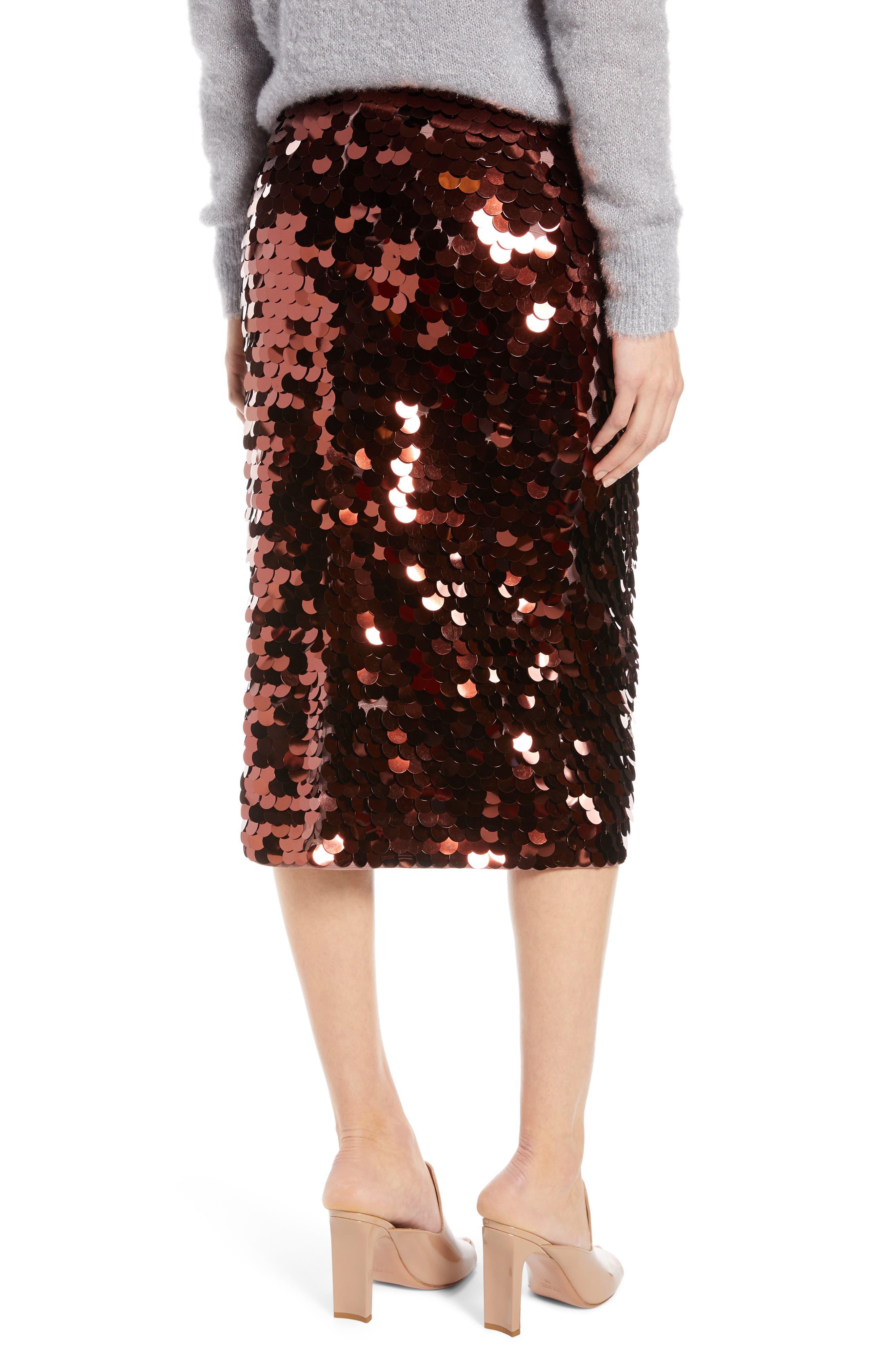 Paillette Pencil Skirt,                             Alternate thumbnail 2, color,                             510