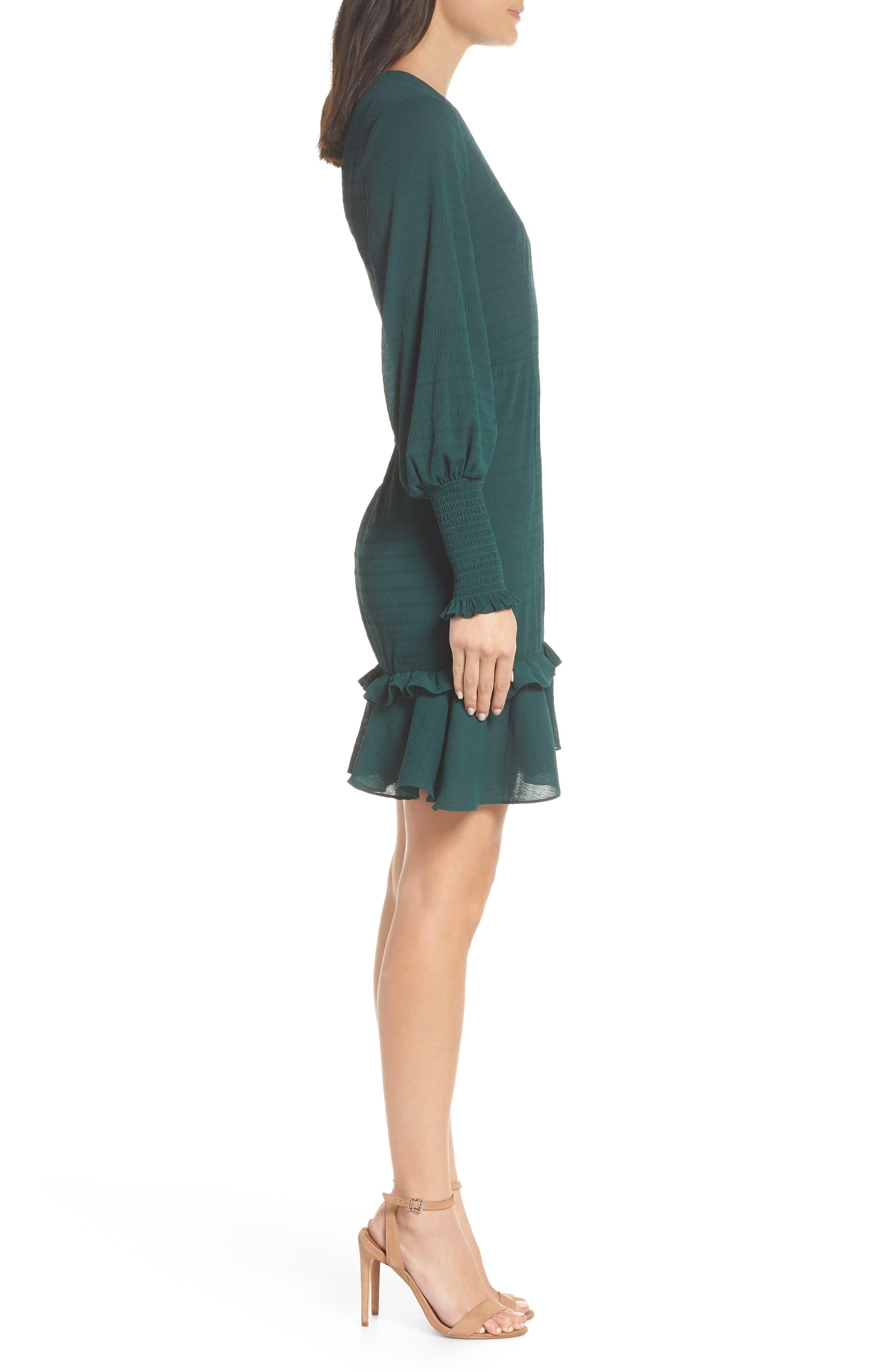 CHELSEA28, Ruffle A-Line Dress, Alternate thumbnail 4, color, 301