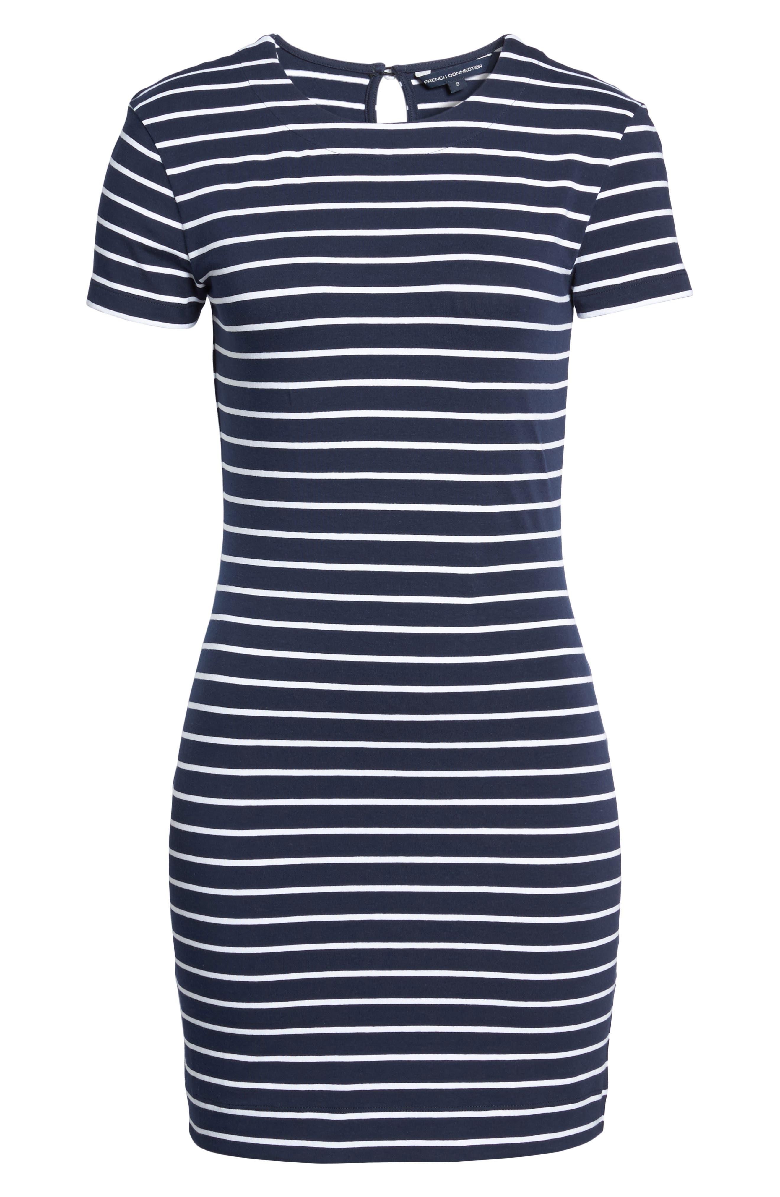Stripe T-Shirt Dress,                             Alternate thumbnail 6, color,                             490