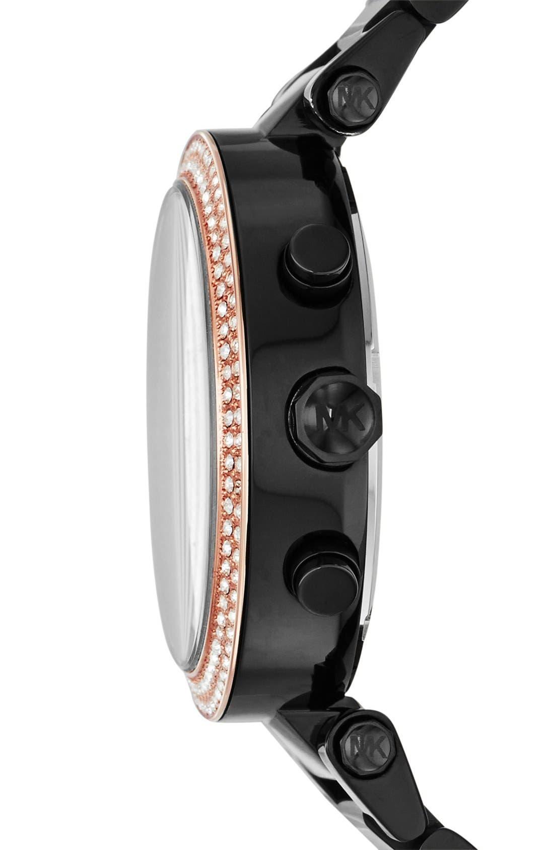 Michael Kors 'Parker' Chronograph Bracelet Watch, 39mm,                             Alternate thumbnail 3, color,                             001
