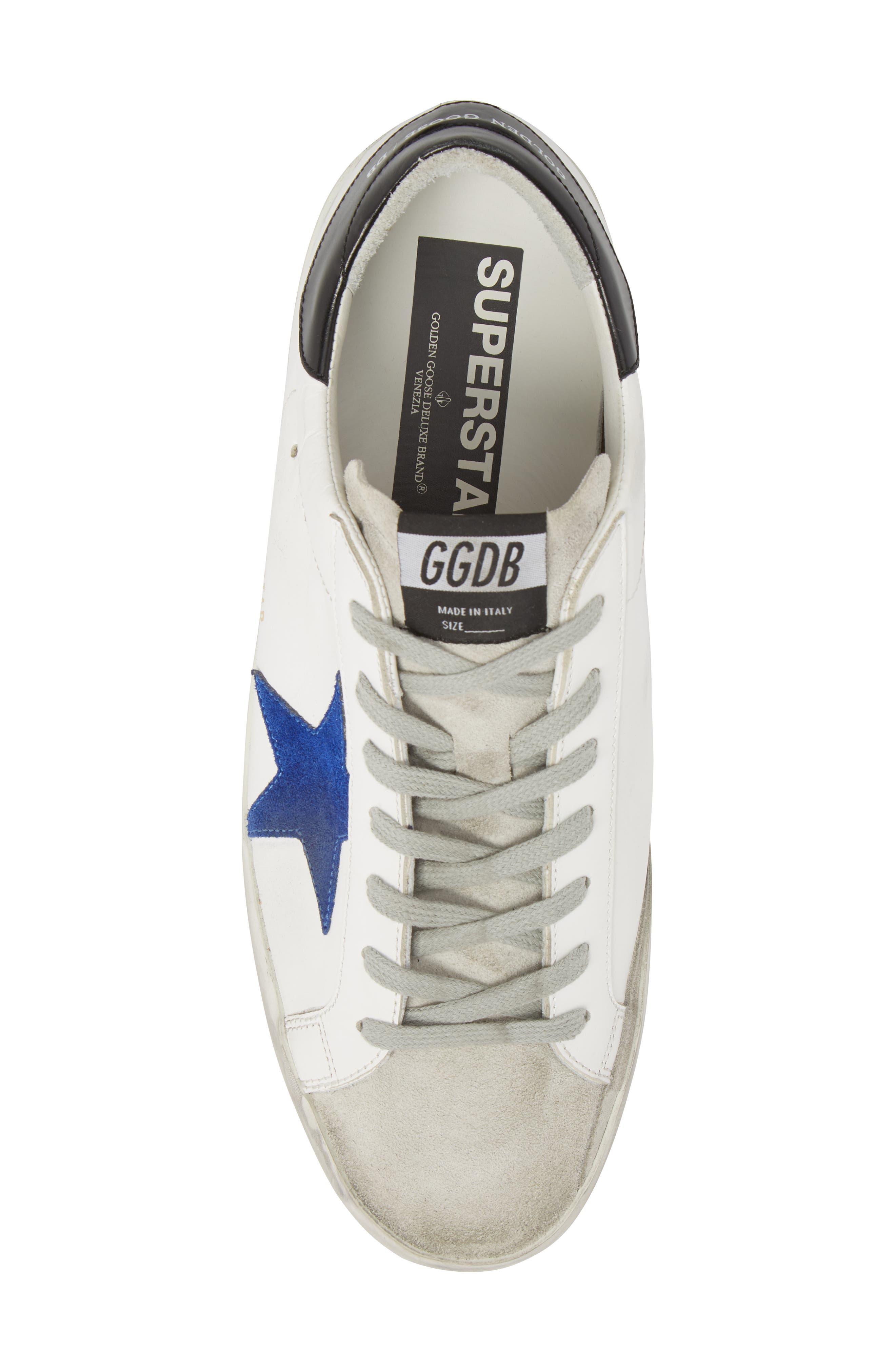 'Superstar' Sneaker,                             Alternate thumbnail 5, color,                             WHITE-BLUE-BLACK