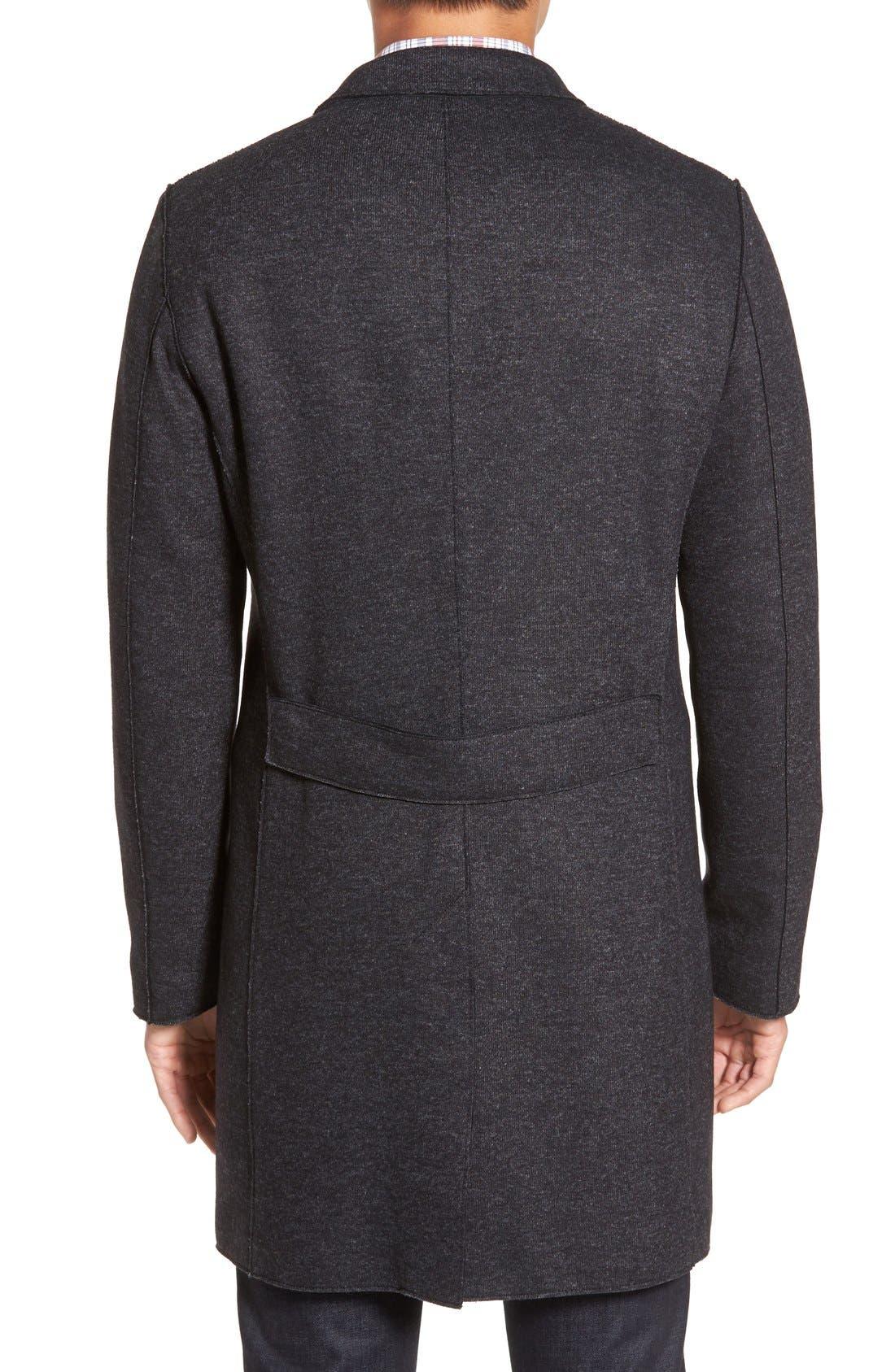 BOSS 'Shawn' Wool Blend Overcoat,                             Alternate thumbnail 2, color,                             402
