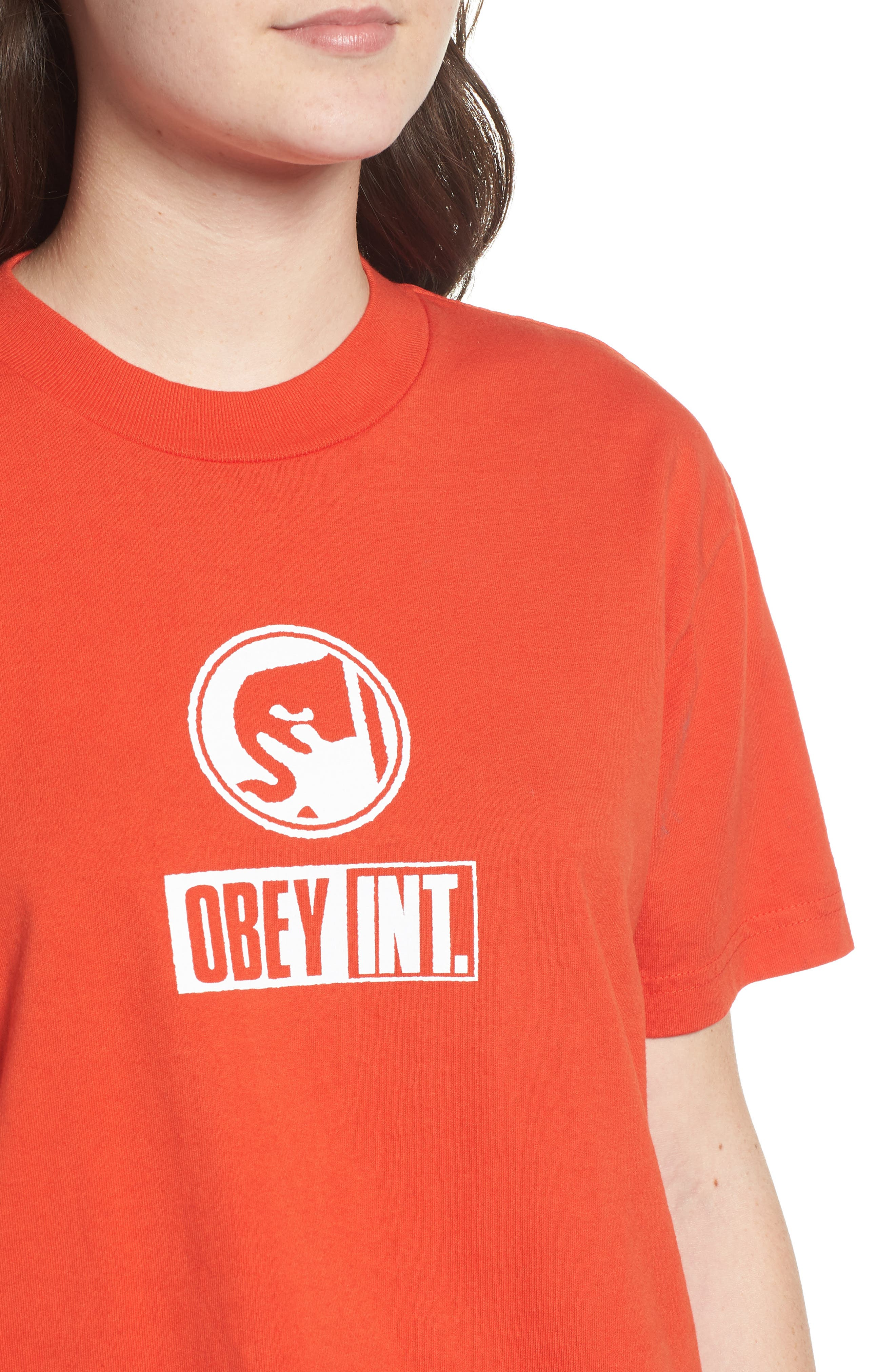 Int. Icon Crop Tee,                             Alternate thumbnail 4, color,                             800