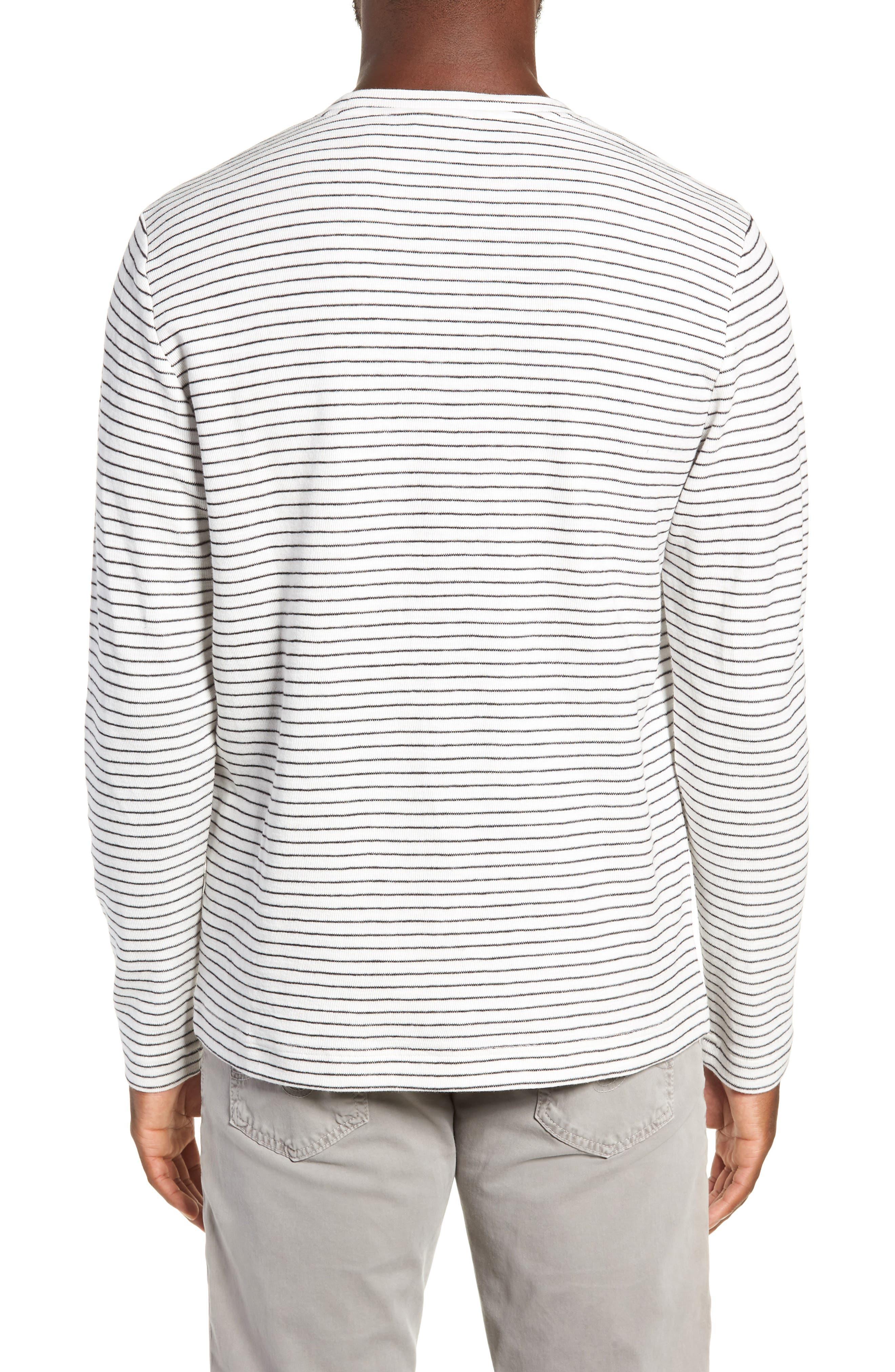 Stripe Long Sleeve Pocket T-Shirt,                             Alternate thumbnail 2, color,                             NATURAL